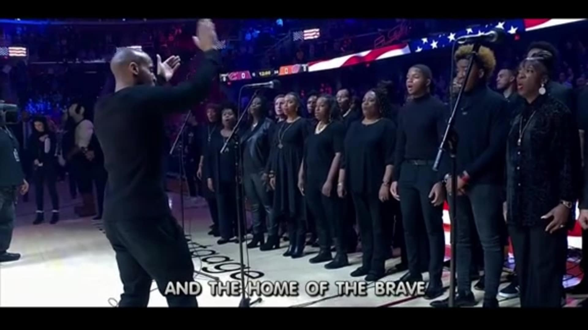The Word Church Choir Performs Ahead of Monday's Game on MLK Day