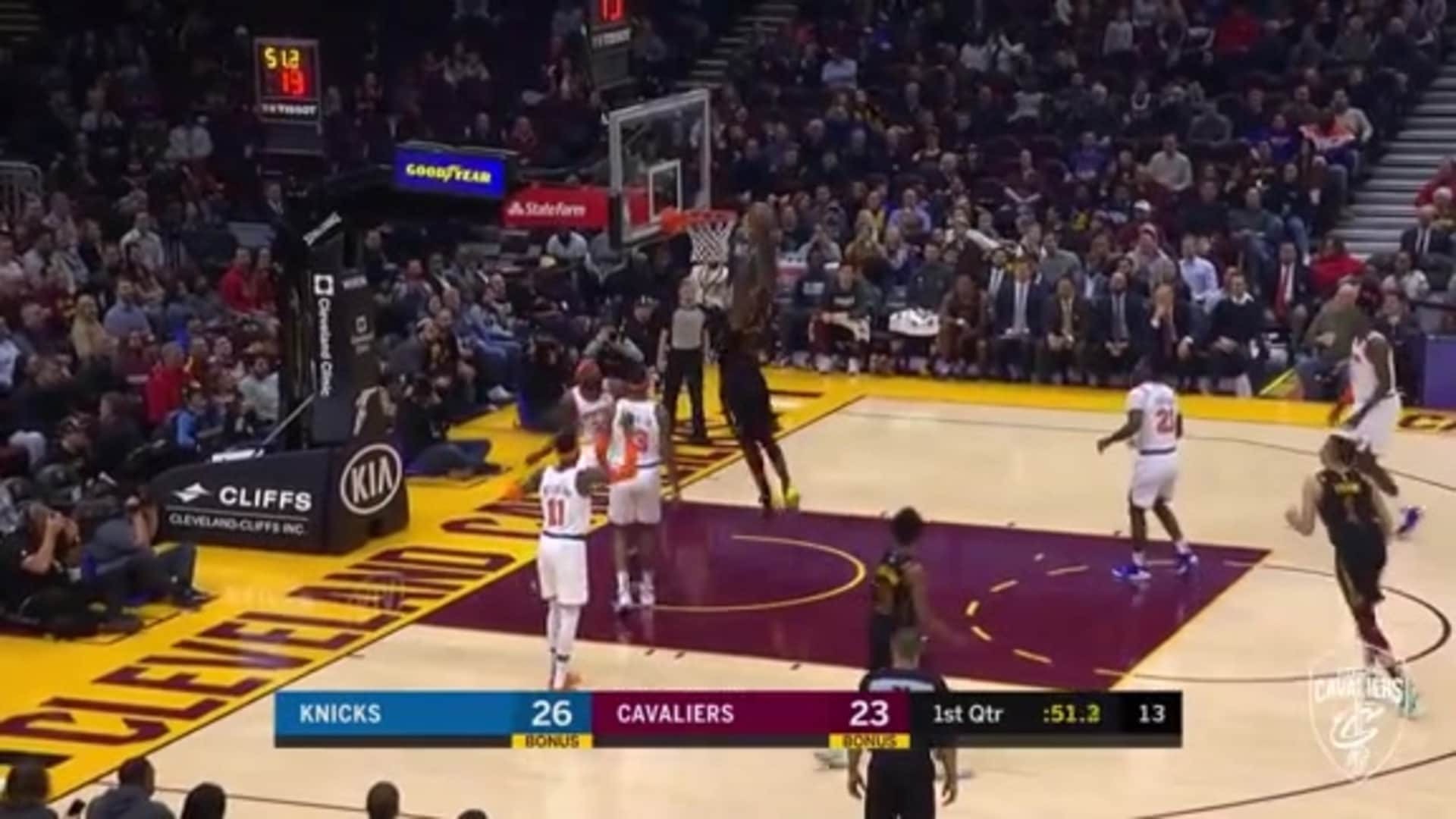 Thompson Keeps Play Alive, Dunks it Home