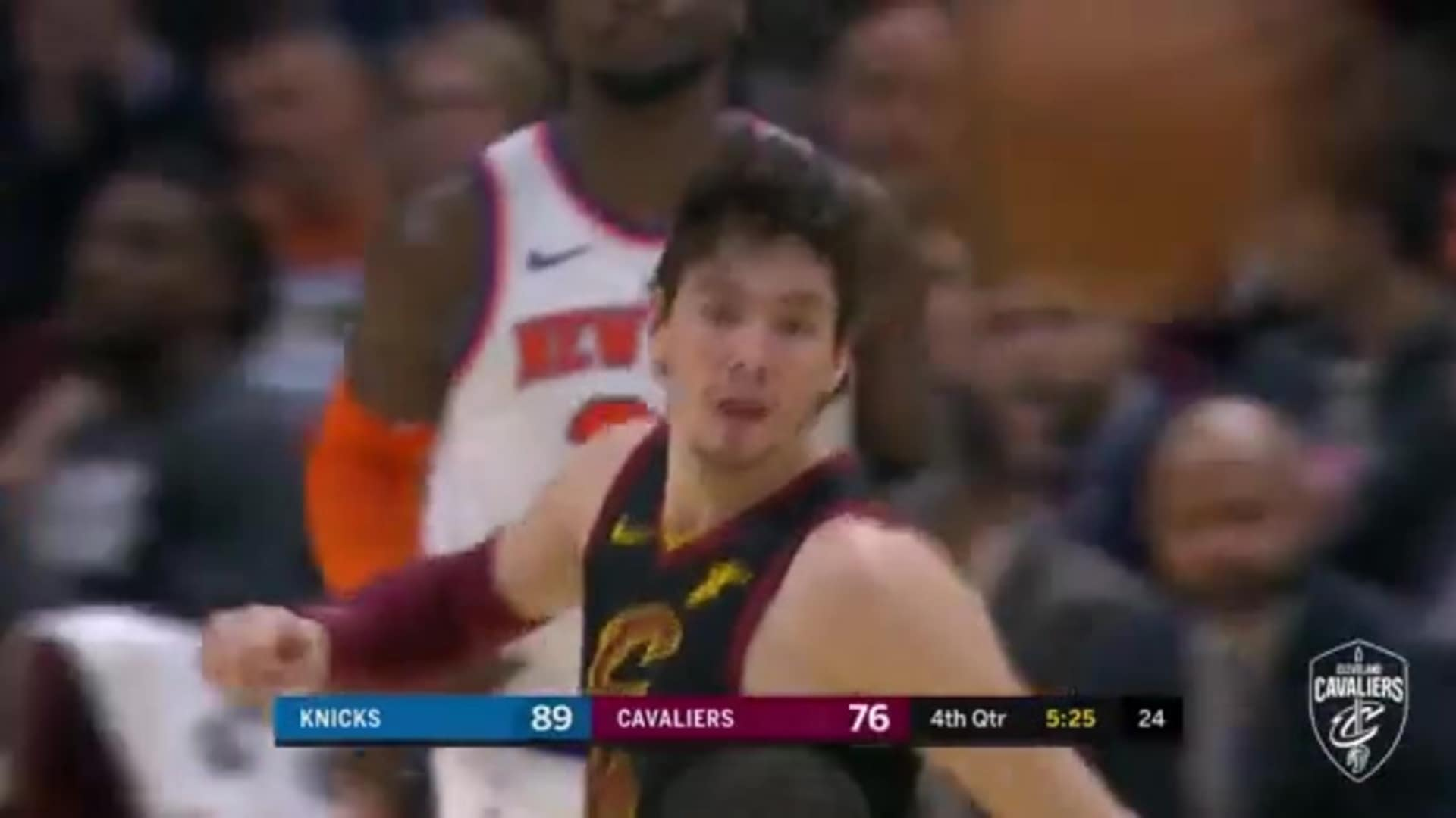 Cedi Nails His Fourth Three Pointer of the Game