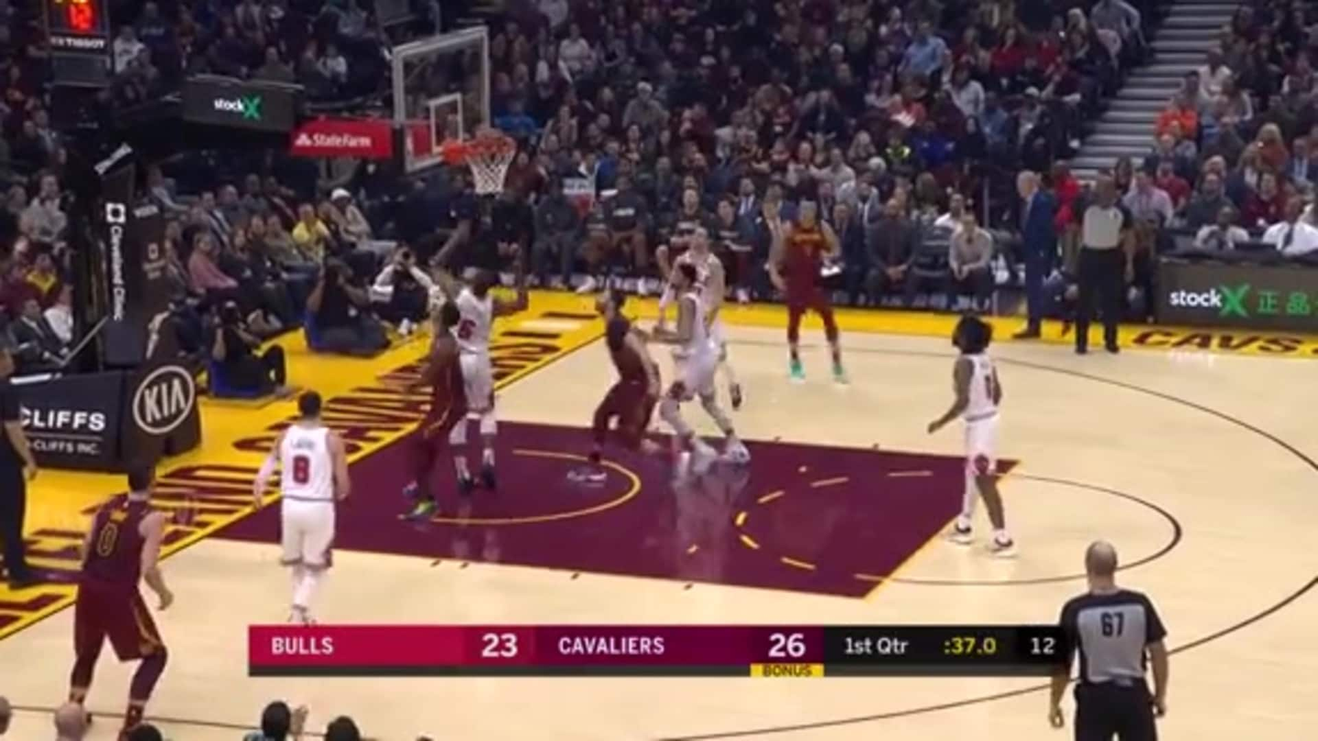 Great Ball Movement Leads to Cavs Bucket