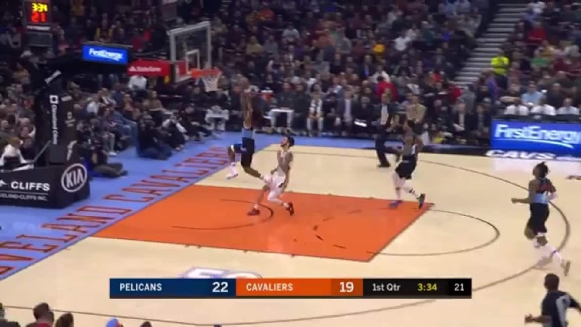 Cavs Defense Forces a Steal, Sexton Throws Down Dunk on Other End