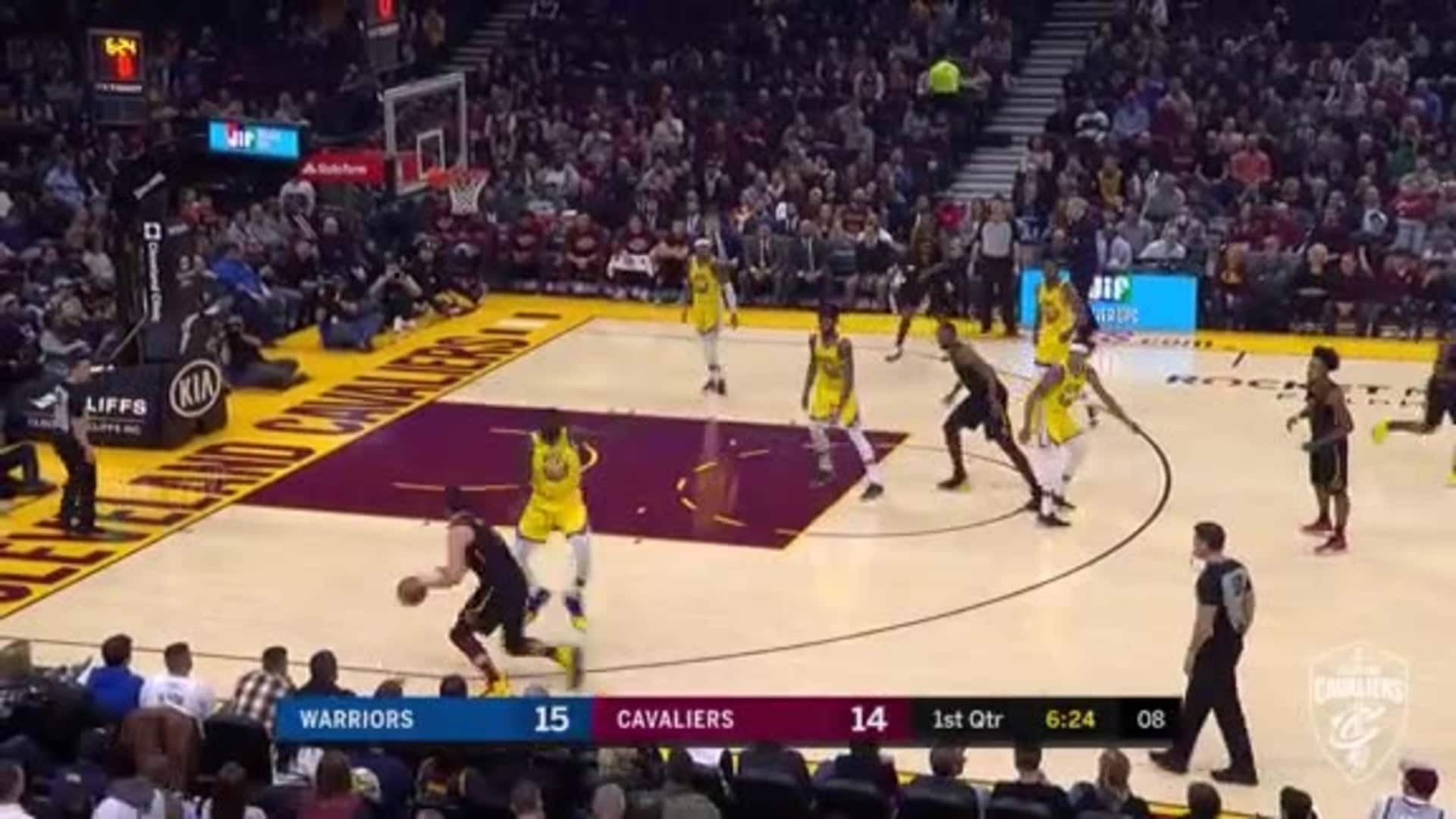 Cavs Great Ball Movement Leads to KPJ Three Ball