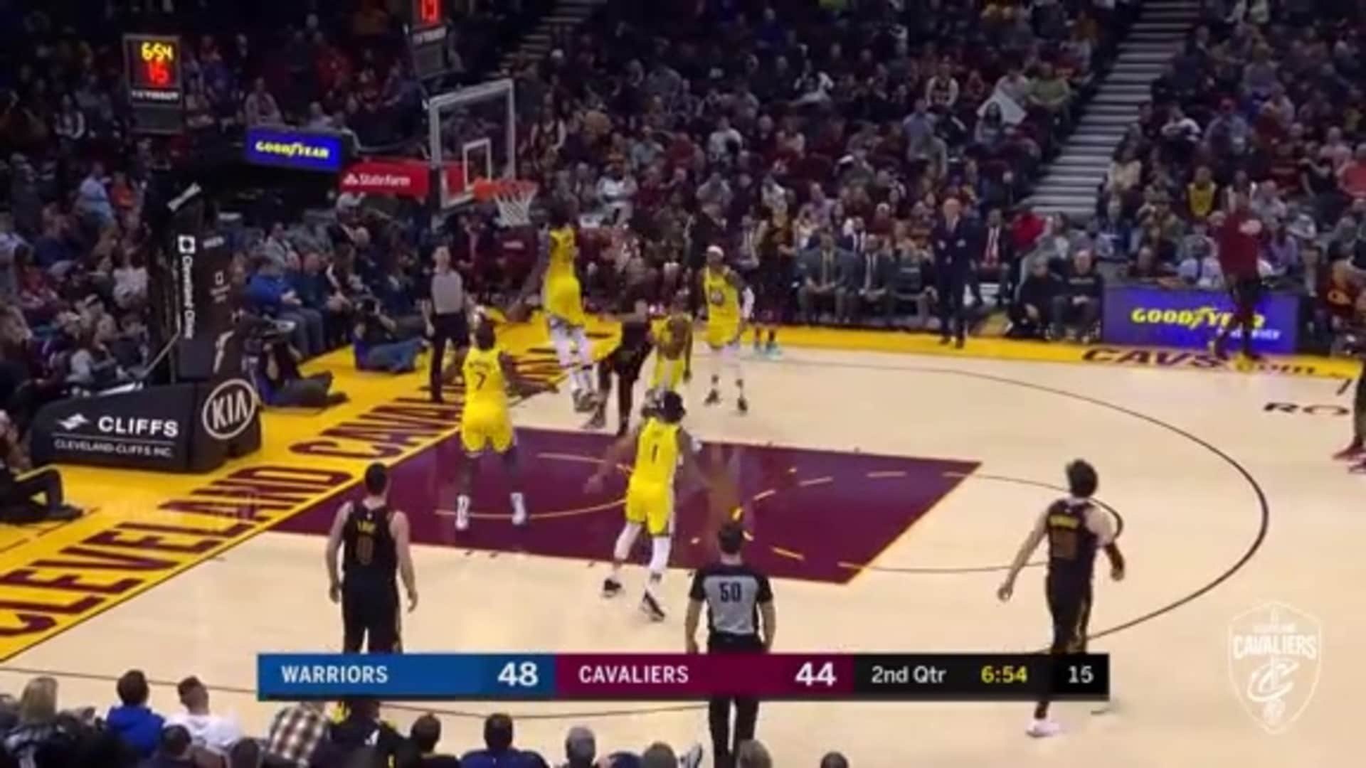 Larry Nance Jr. Hits Wild Shot at the Rim