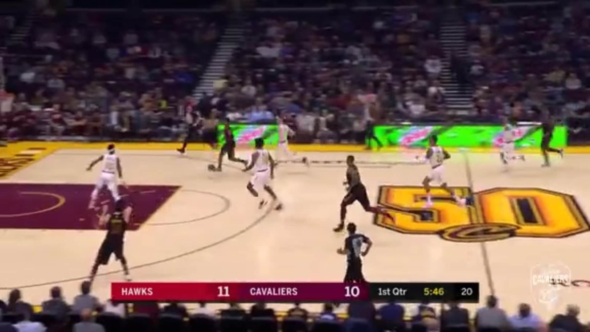 TT Runs the Floor, Finishes Play with a Dunk