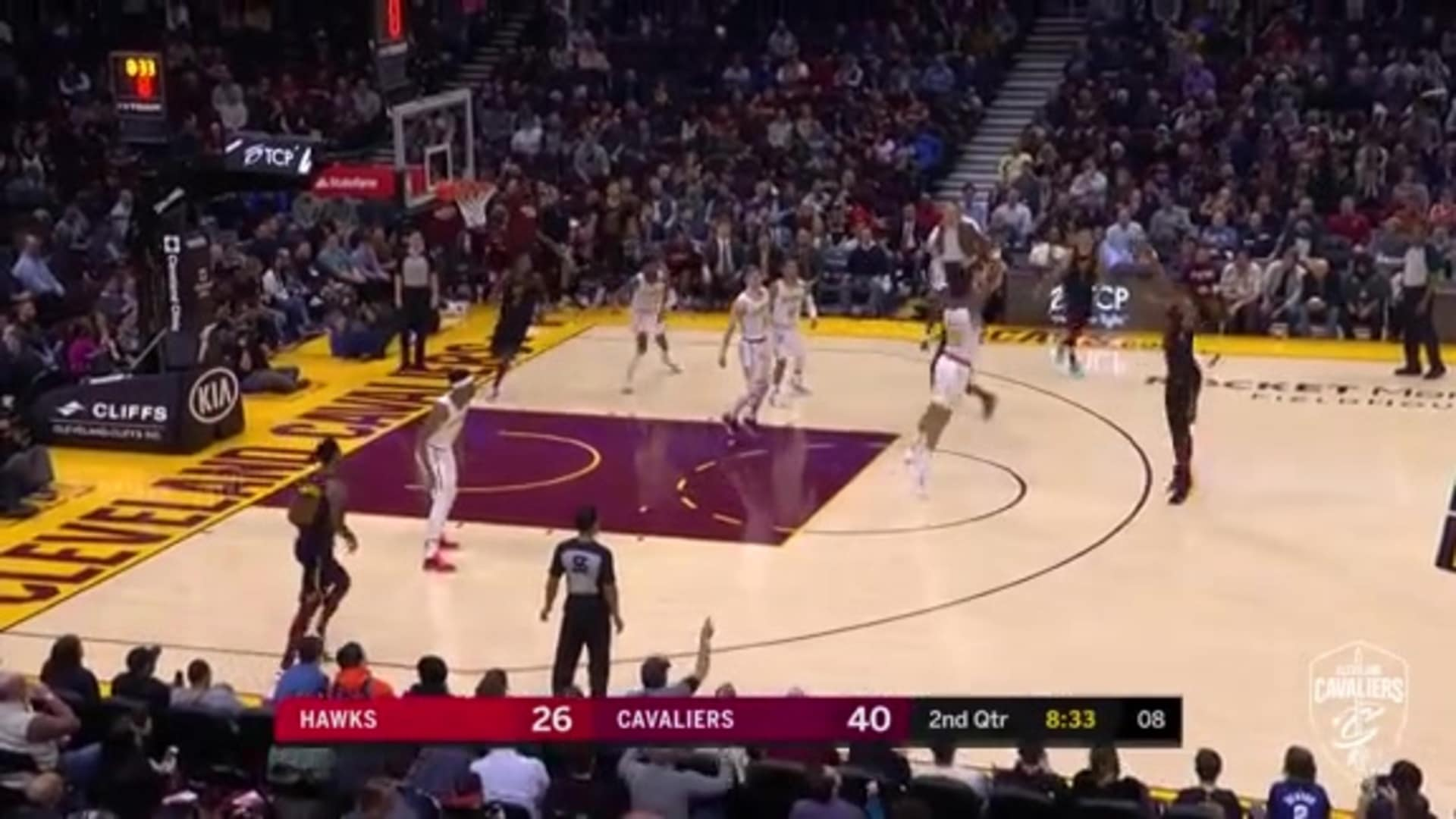 Tristan Scores Eight Straight Cavs Points