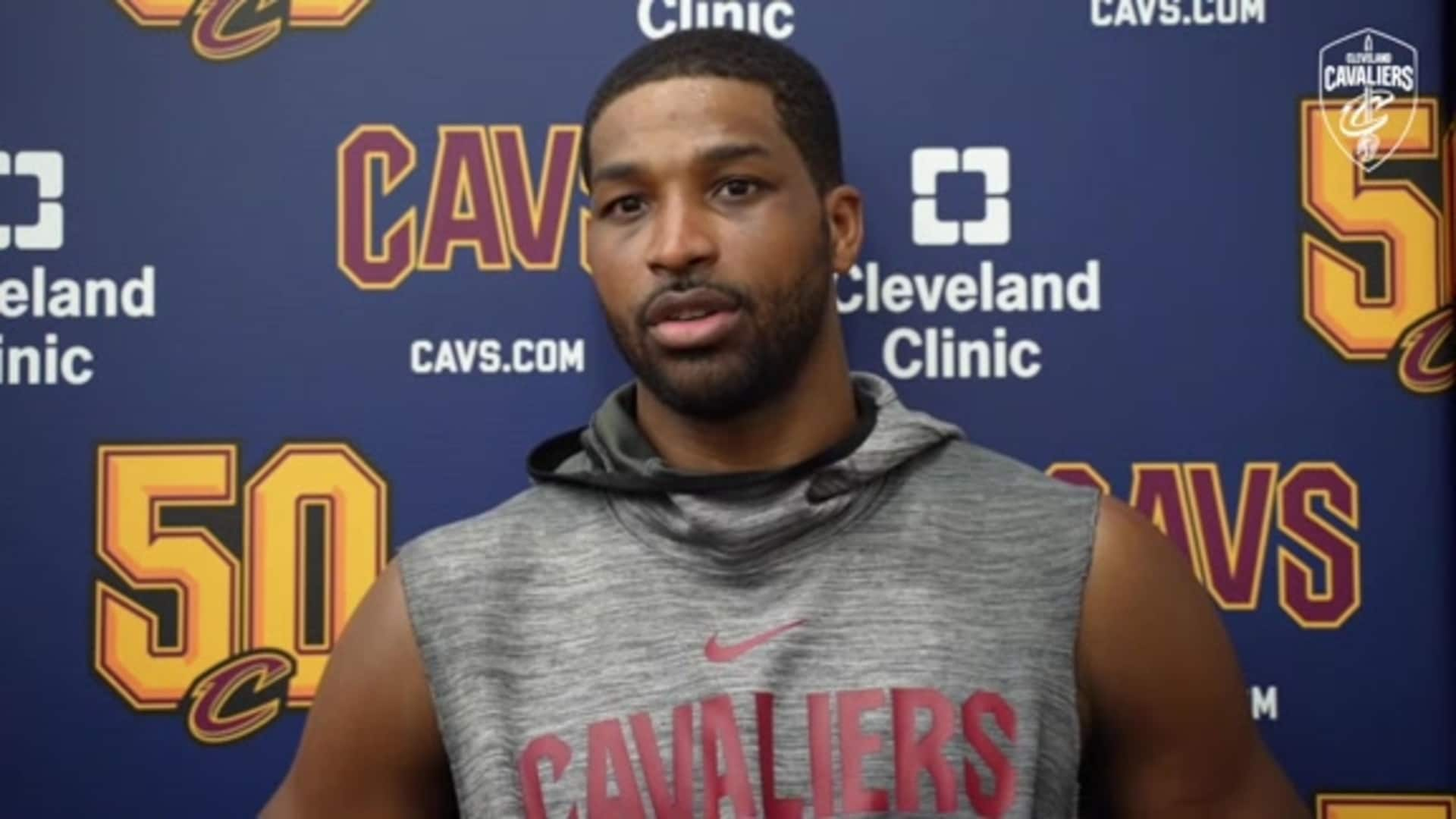 Cavs at Wizards Practice: Tristan Thompson