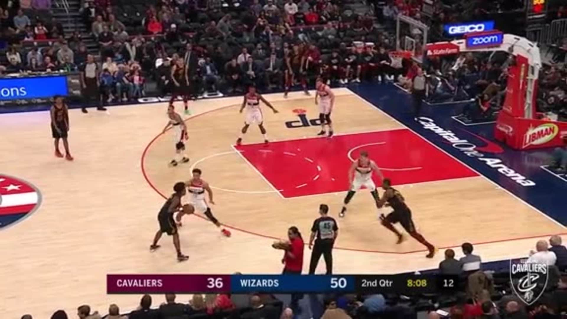 Sexton Gets Fouled While Making Three Pointer