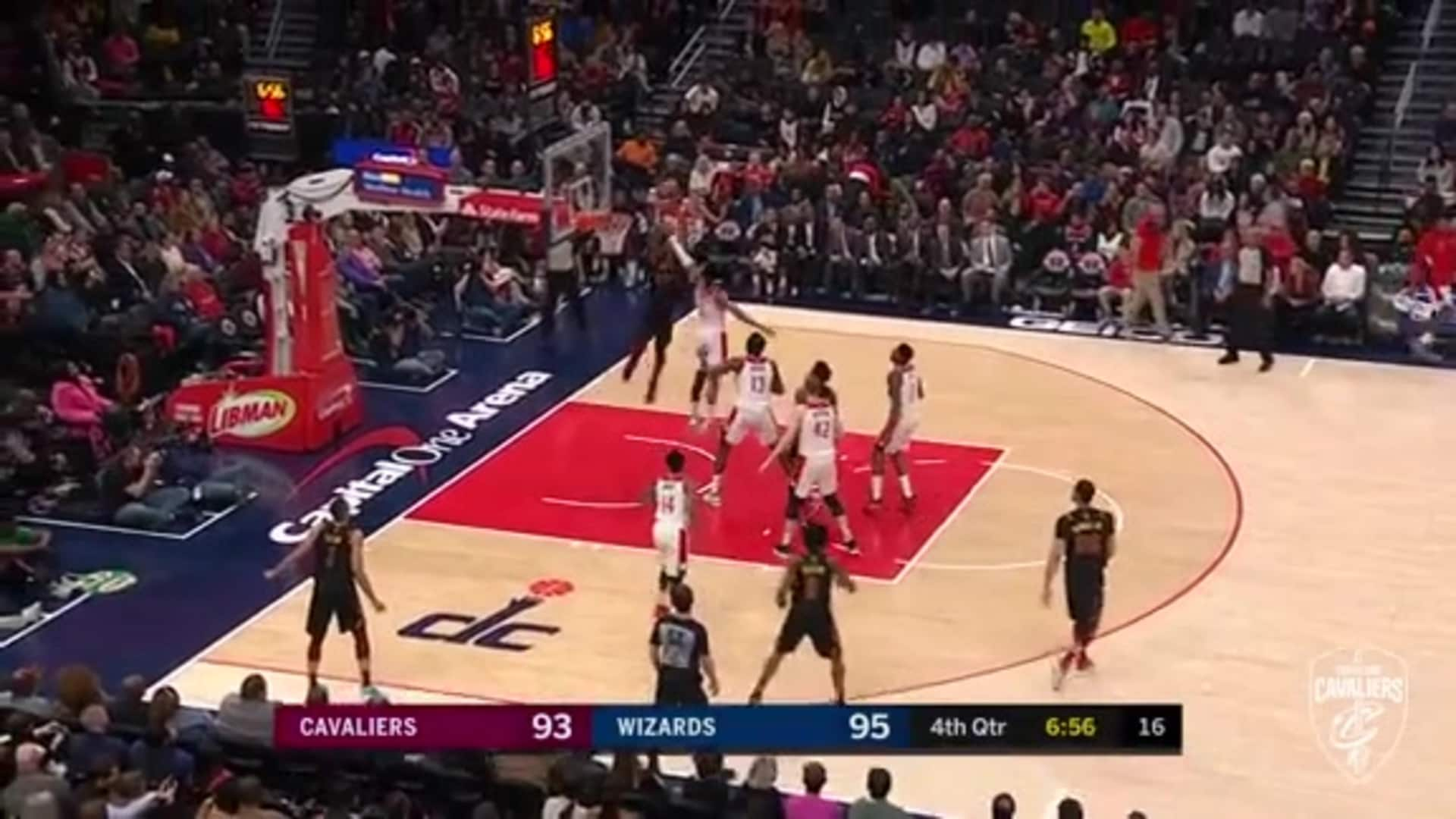 Garland Lobs to Thompson for Strong Ally-Oop