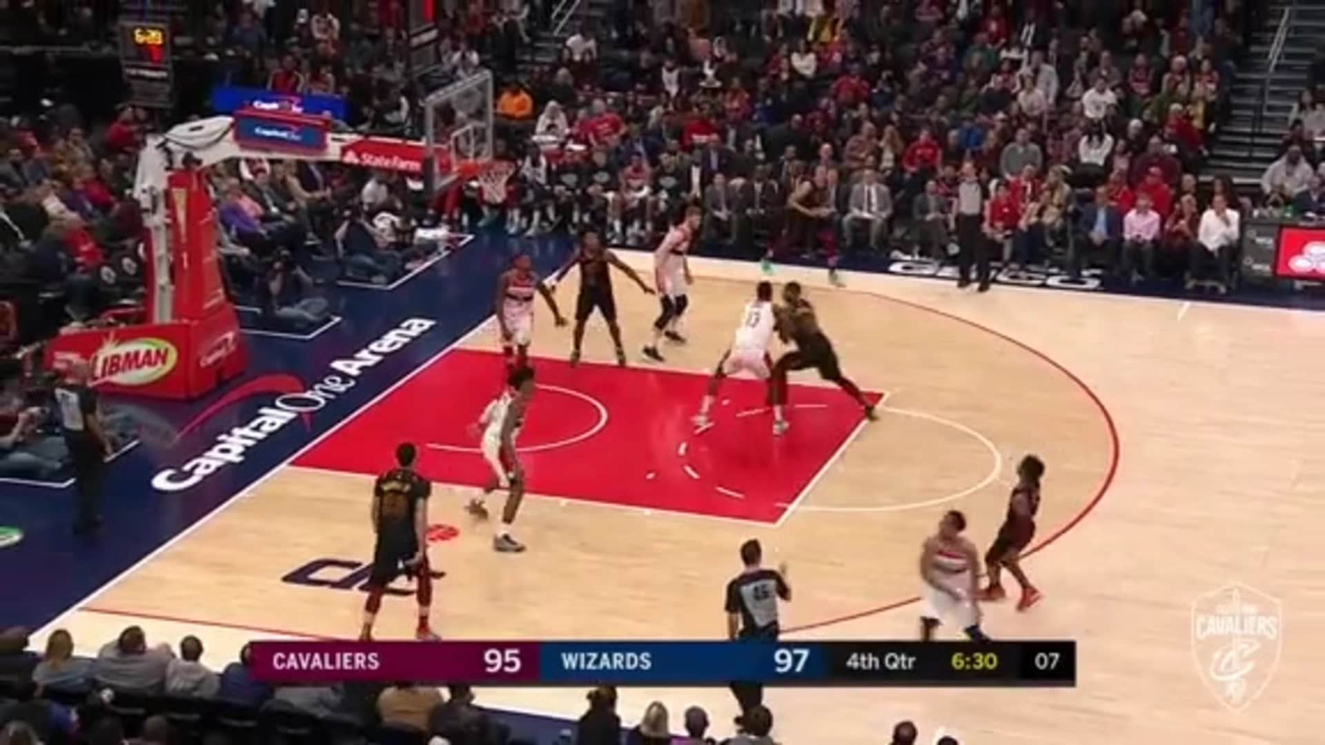 Garland's Three Ball Gives Cavs the Lead