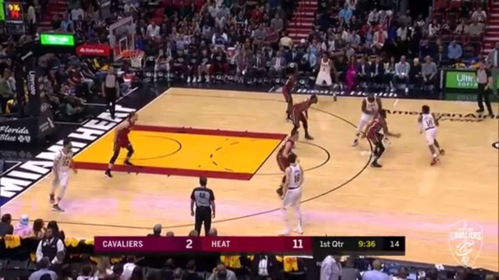 Garland's Nifty Dribbling Leads to Basket