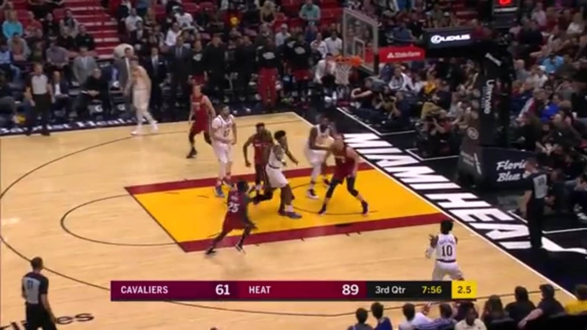 Garland Hits Triple as Shot Clock Expires
