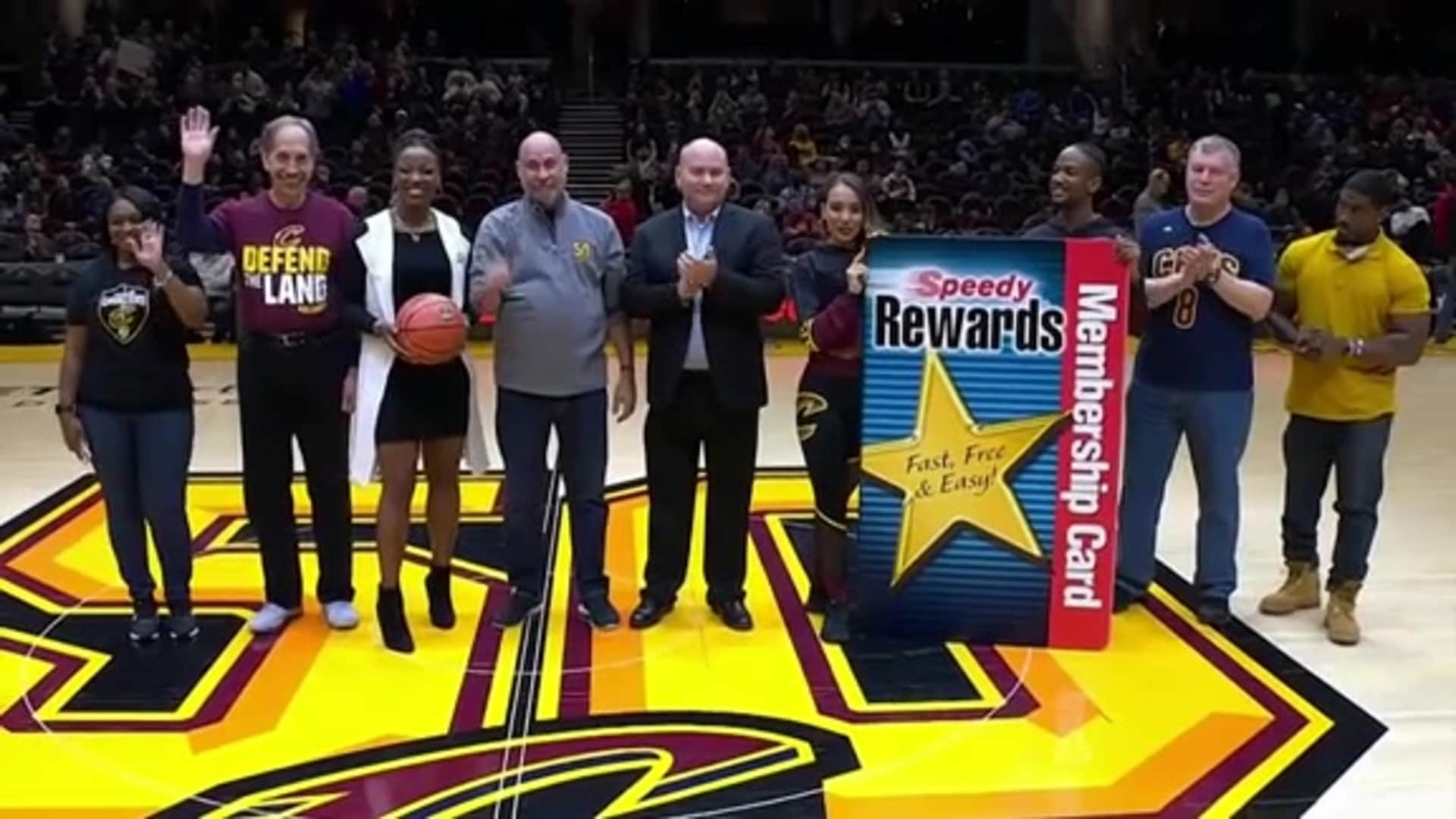 EveryFAN Winner Honored at Halftime