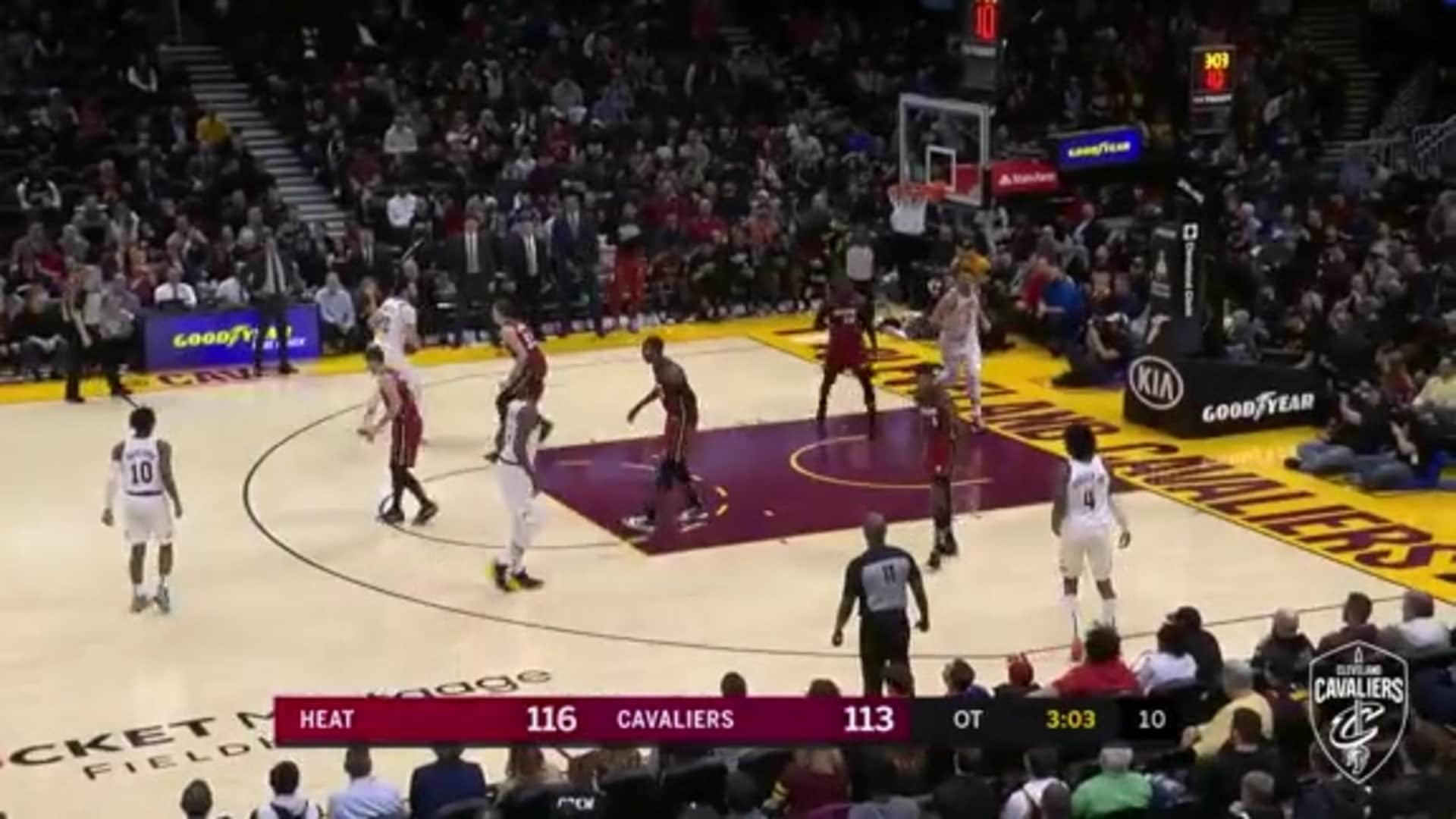 Nance Scores First Four Cavs Points of OT