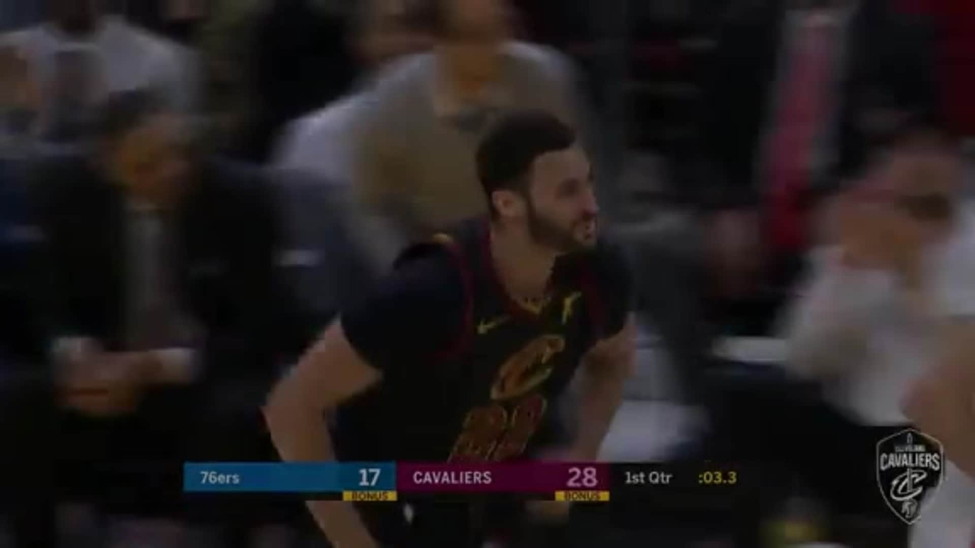 Delly's Outlet Pass Leads to Nance Dunk
