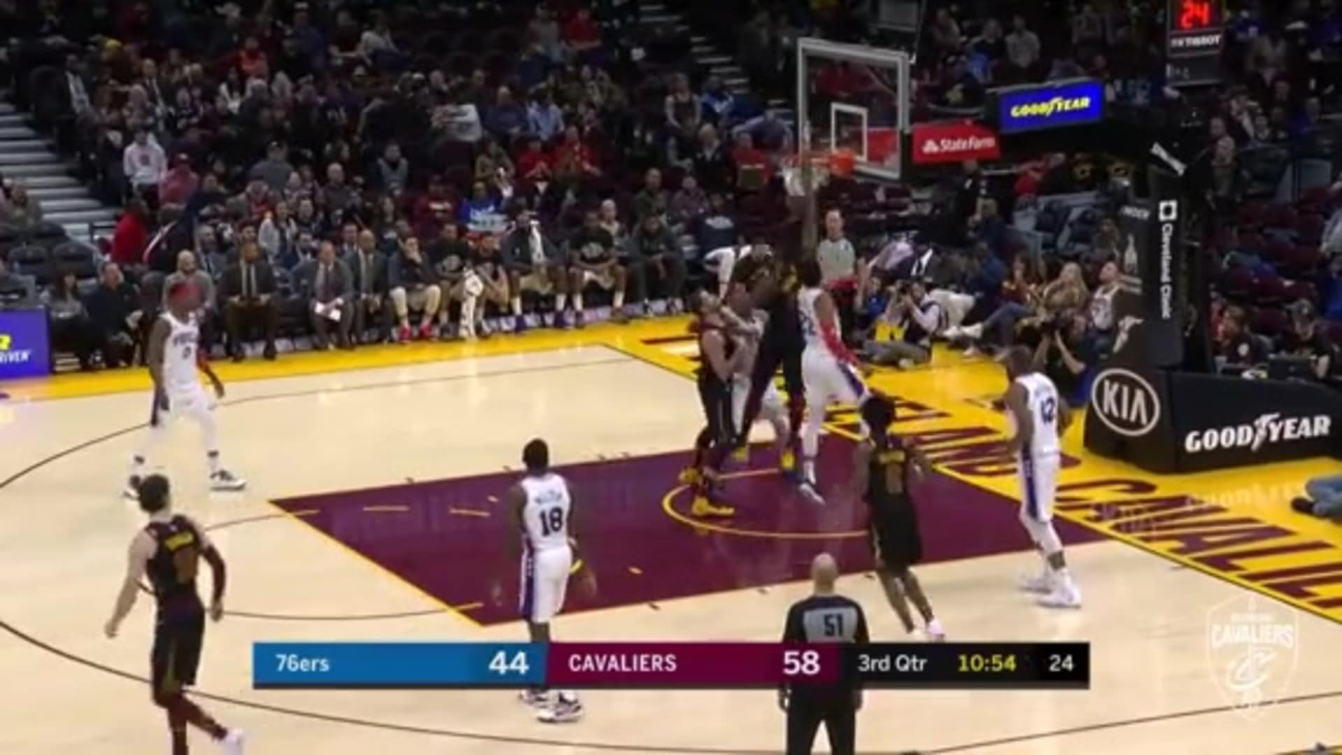 Tristan's One-Handed Dunk