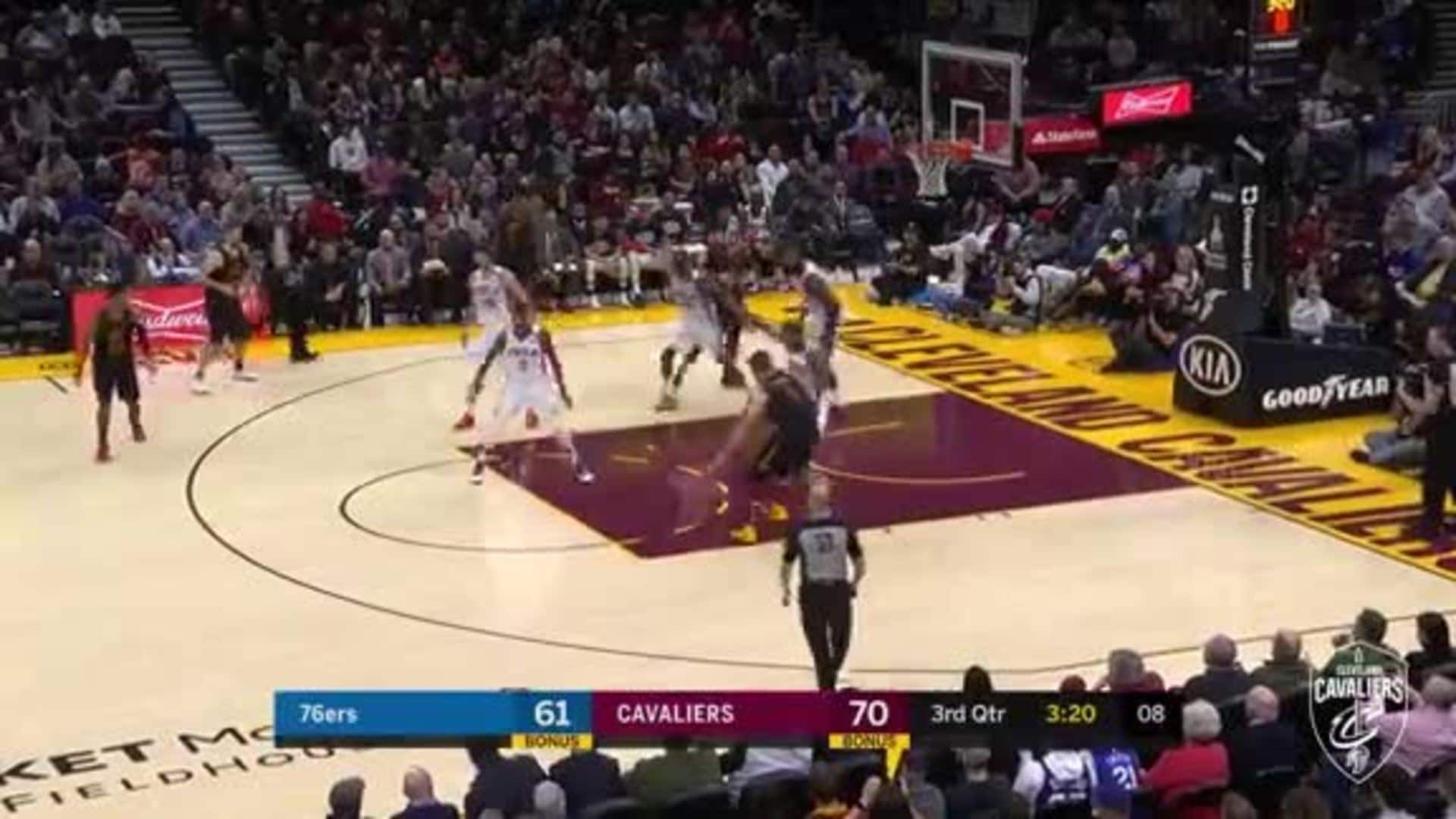 Nance's Bank Shot Late in the Shot Clock