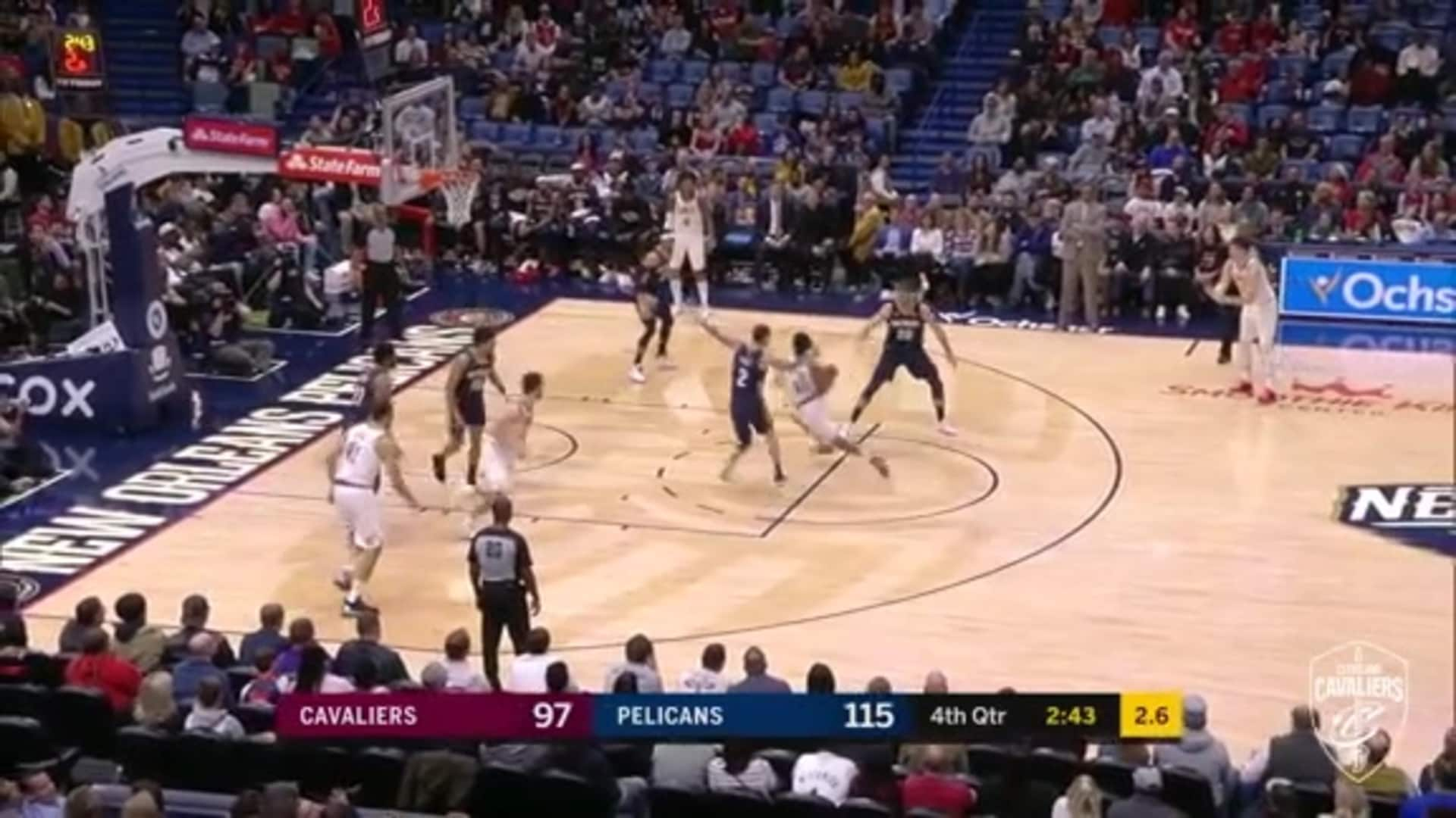 Cavs Ball Movement Leads to Garland Bucket