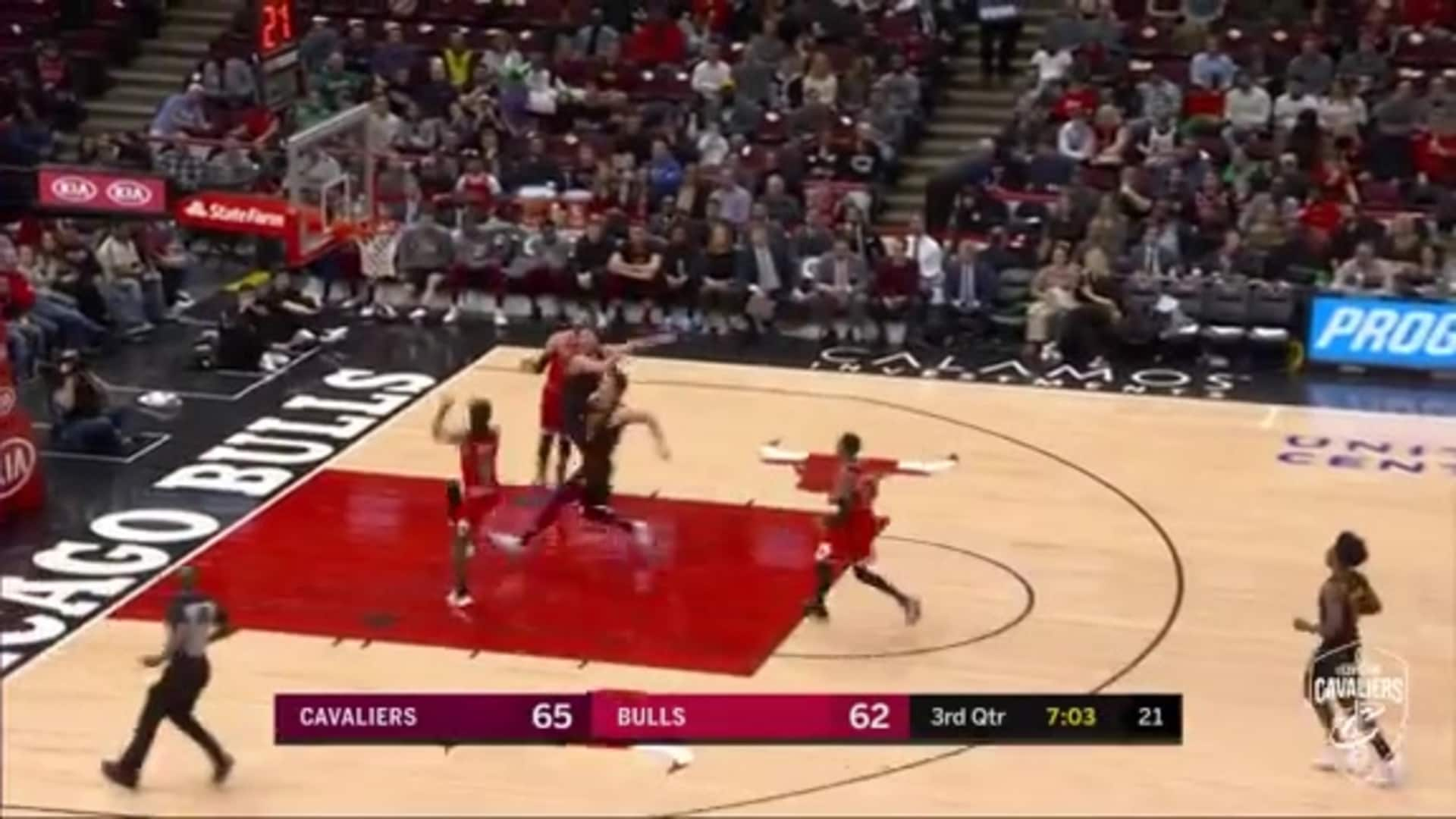 Cedi Osman Rejects Bulls Ally-Oop Attempt