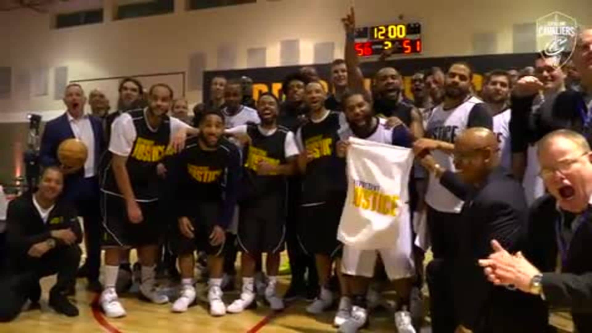 Cavaliers Players and Coaches Visit Grafton Correctional Institution