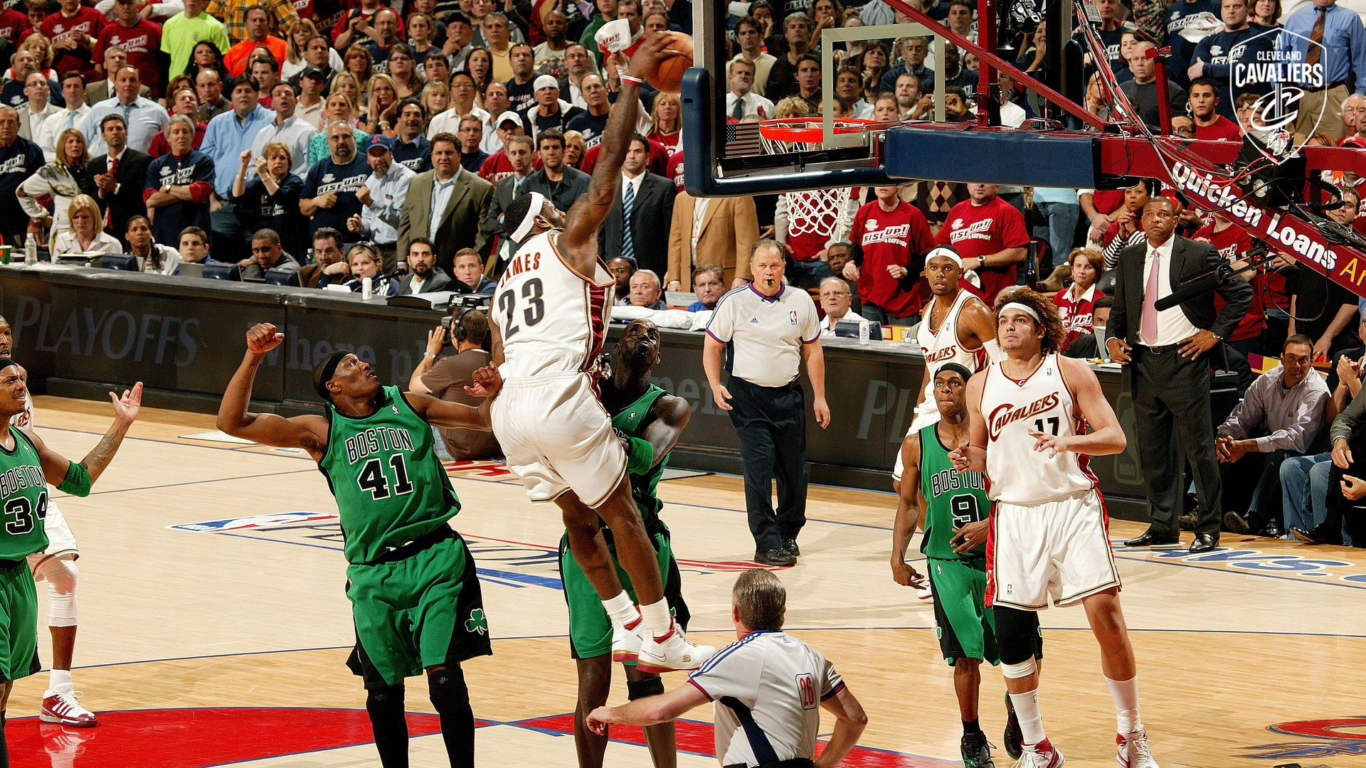 LeBron James Throws it Down on the Celtics