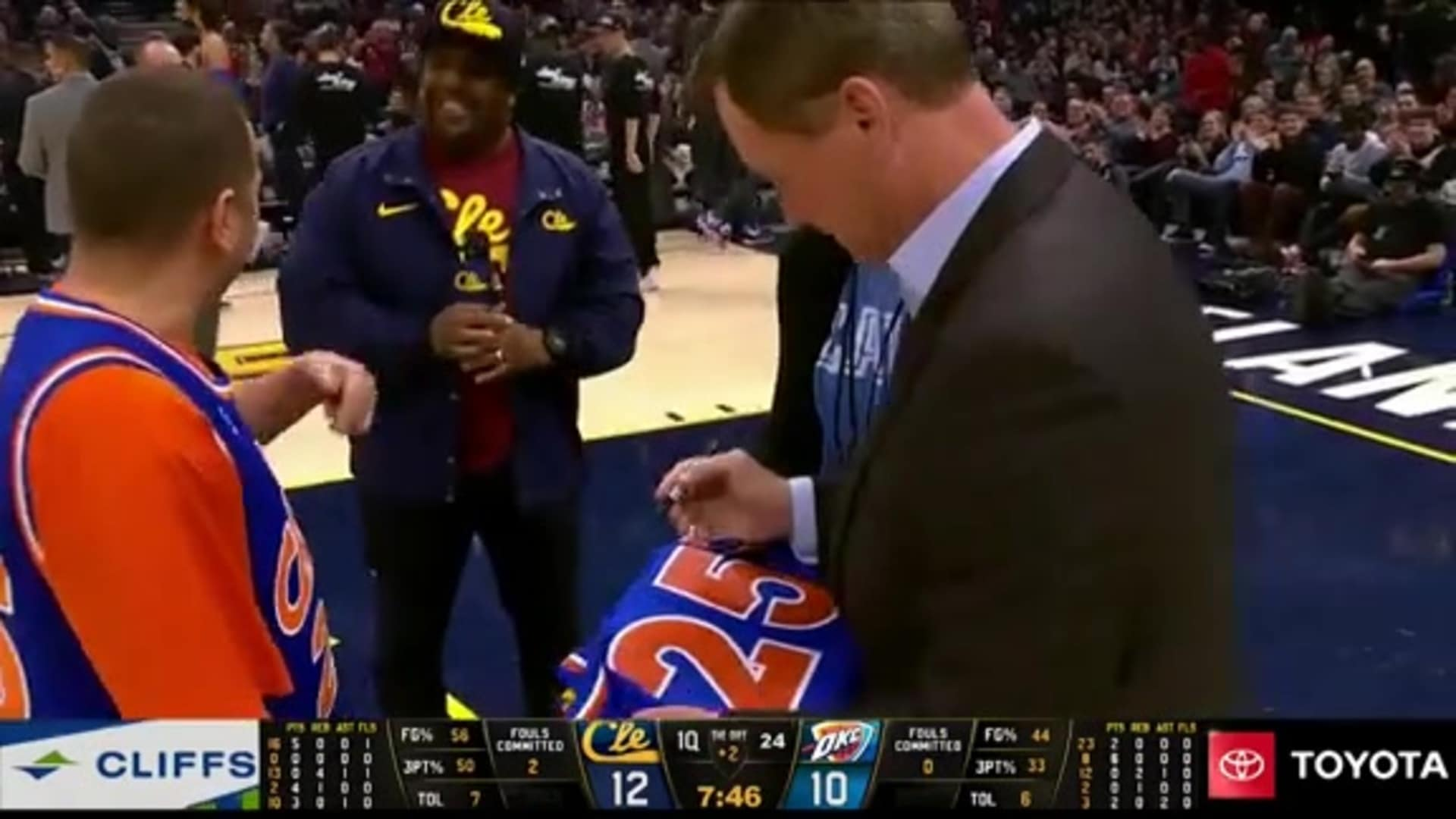 Mark Price Surprises Fan with Signed Jersey