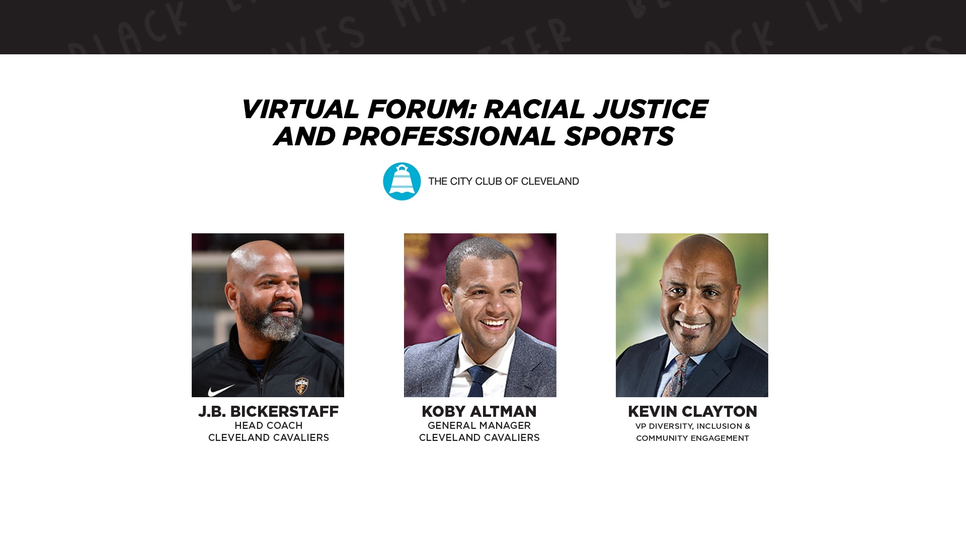 Virtual Forum: Racial Justice and Professional Sports