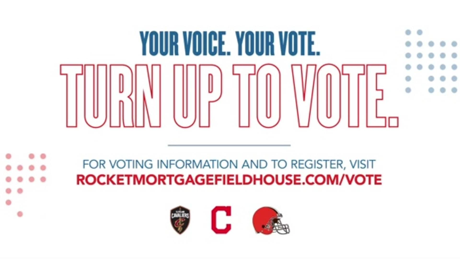 Cavaliers, Browns and Indians Encourage Clevelanders to Vote