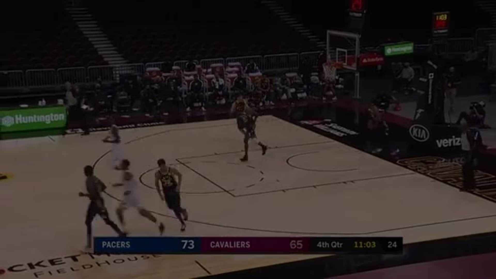 Okoro Drives Baseline and Scores