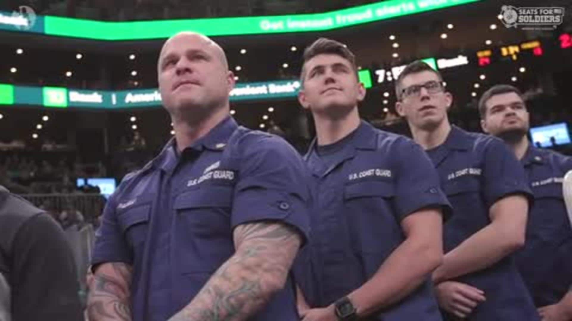 Celtics Surprise Coast Guard on Seats for Soldiers Night presented by ReliaQuest