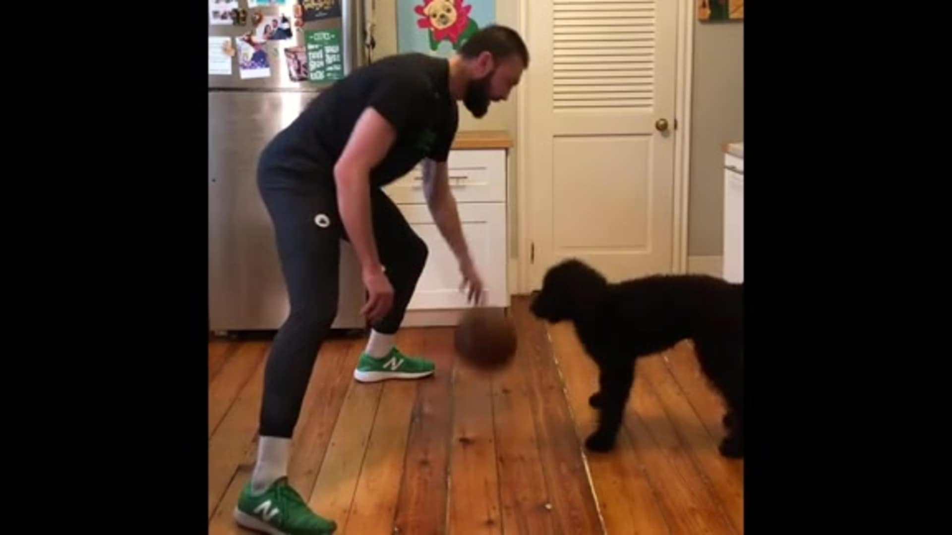 Jr. Celtics At Home - Puppy Crossover Drill