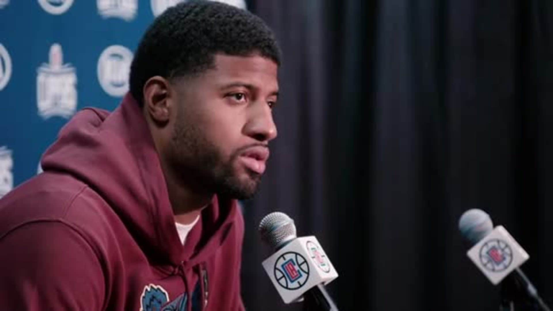 Post-Game Sound | Paul George (11.24.19)