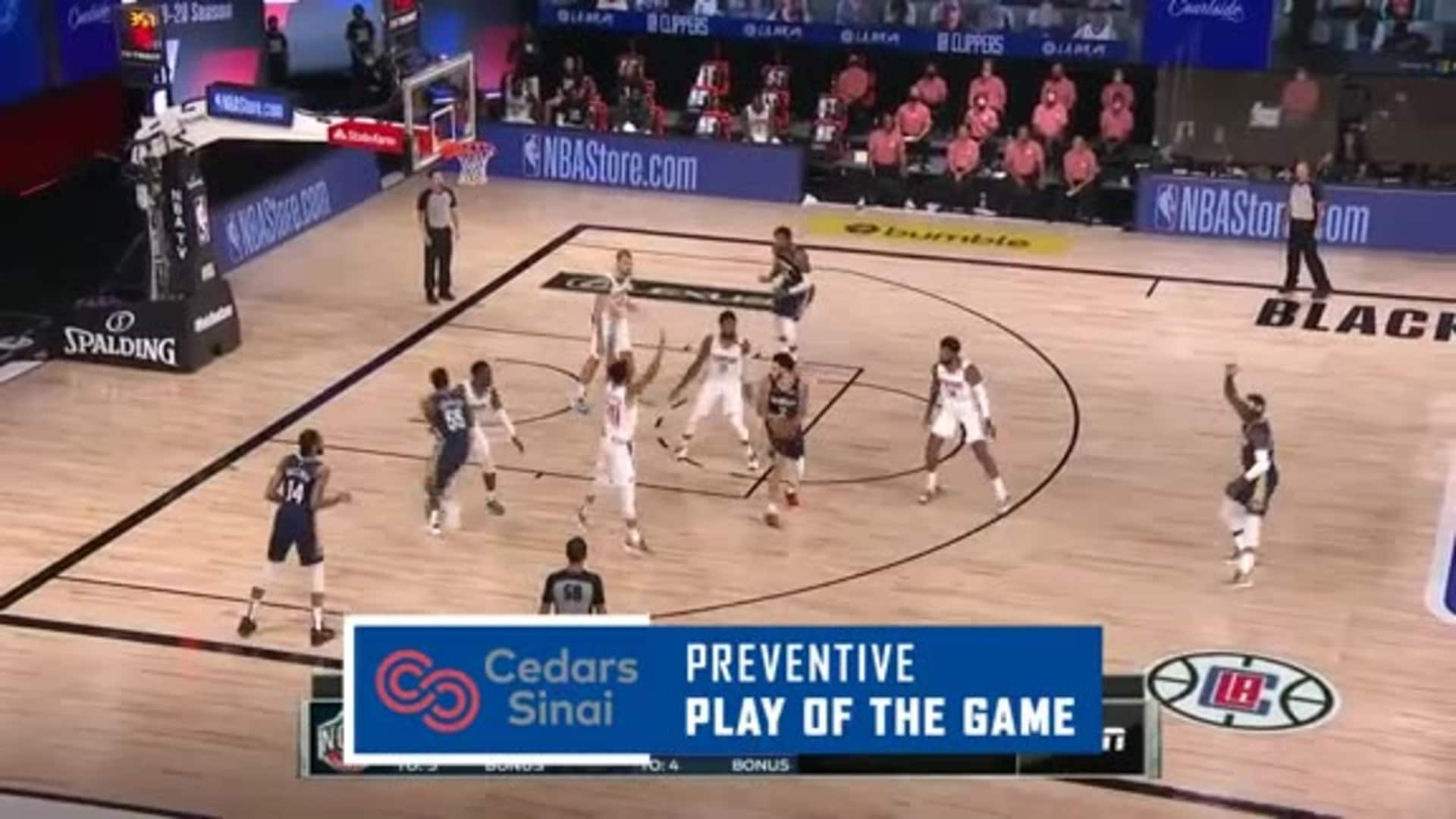 Cedars-Sinai Preventive Play of the Game | Clippers vs. Pelicans (08.01.20)