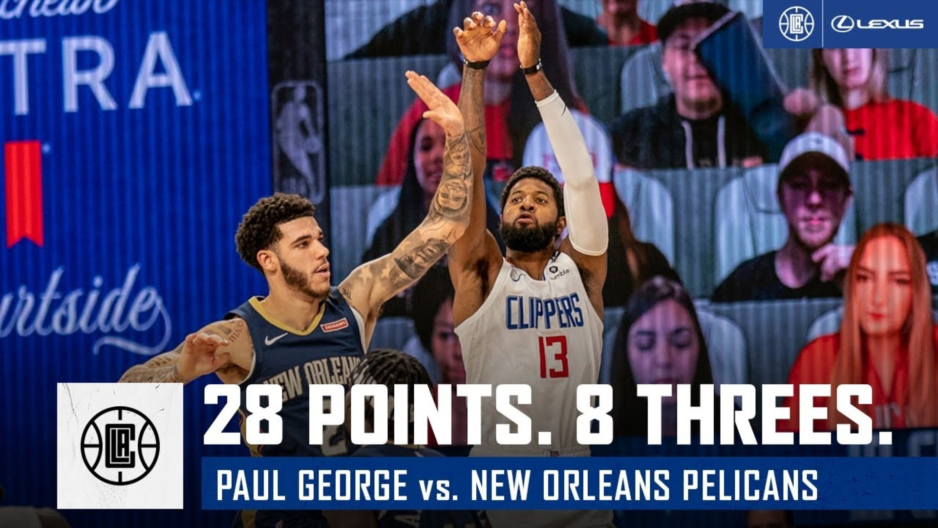Paul George Drops 28 points and 8 Threes vs. Pelicans | Lexus Player Highlights