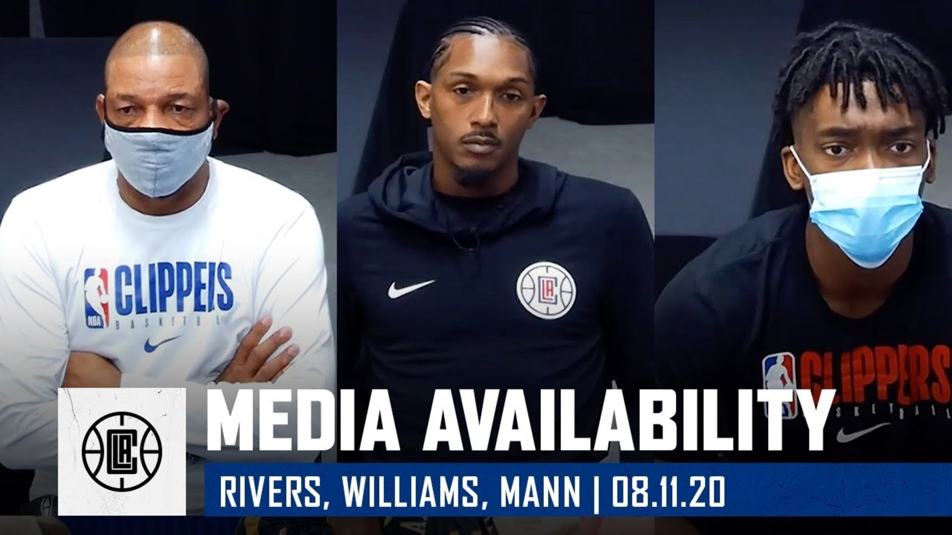 Virtual Media Availability | Doc Rivers, Lou Williams, and Terance Mann (8.11.20)