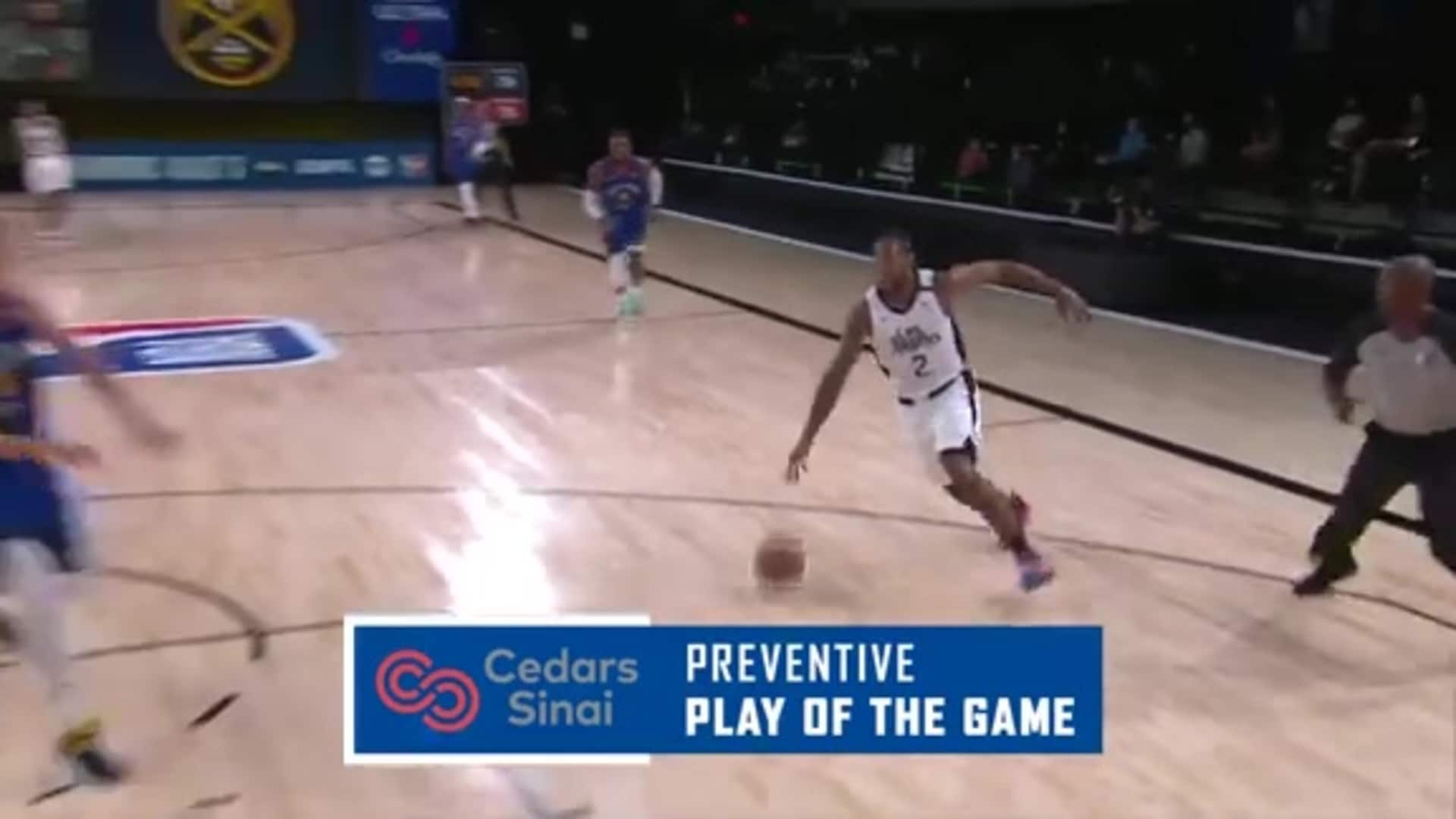 Cedars-Sinai Preventive Play of the Game | Clippers vs. Nuggets (08.12.20)