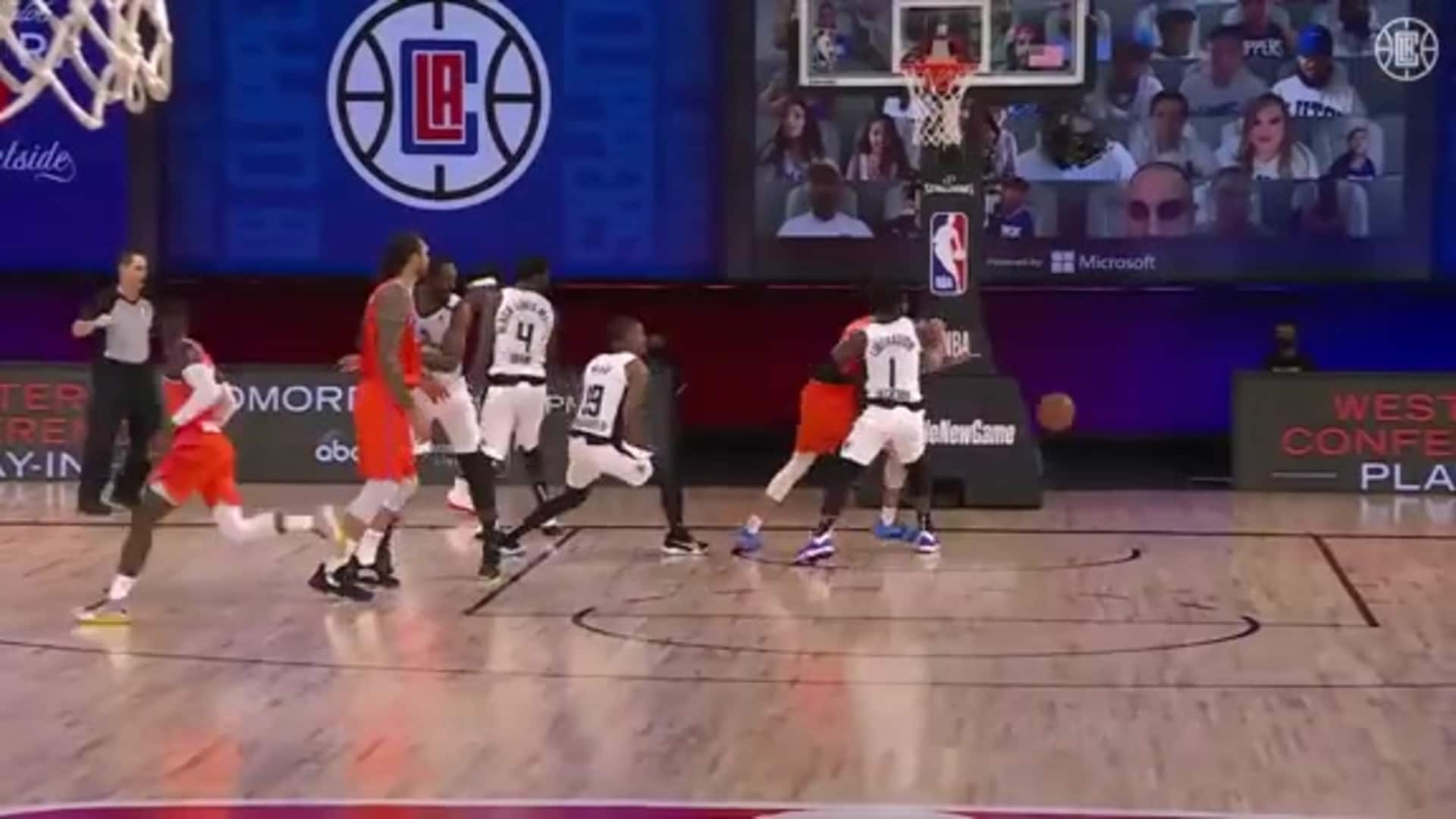 Coffey Swipes the Inbound Pass and Breaks Away for a Jam | (08.14.20)
