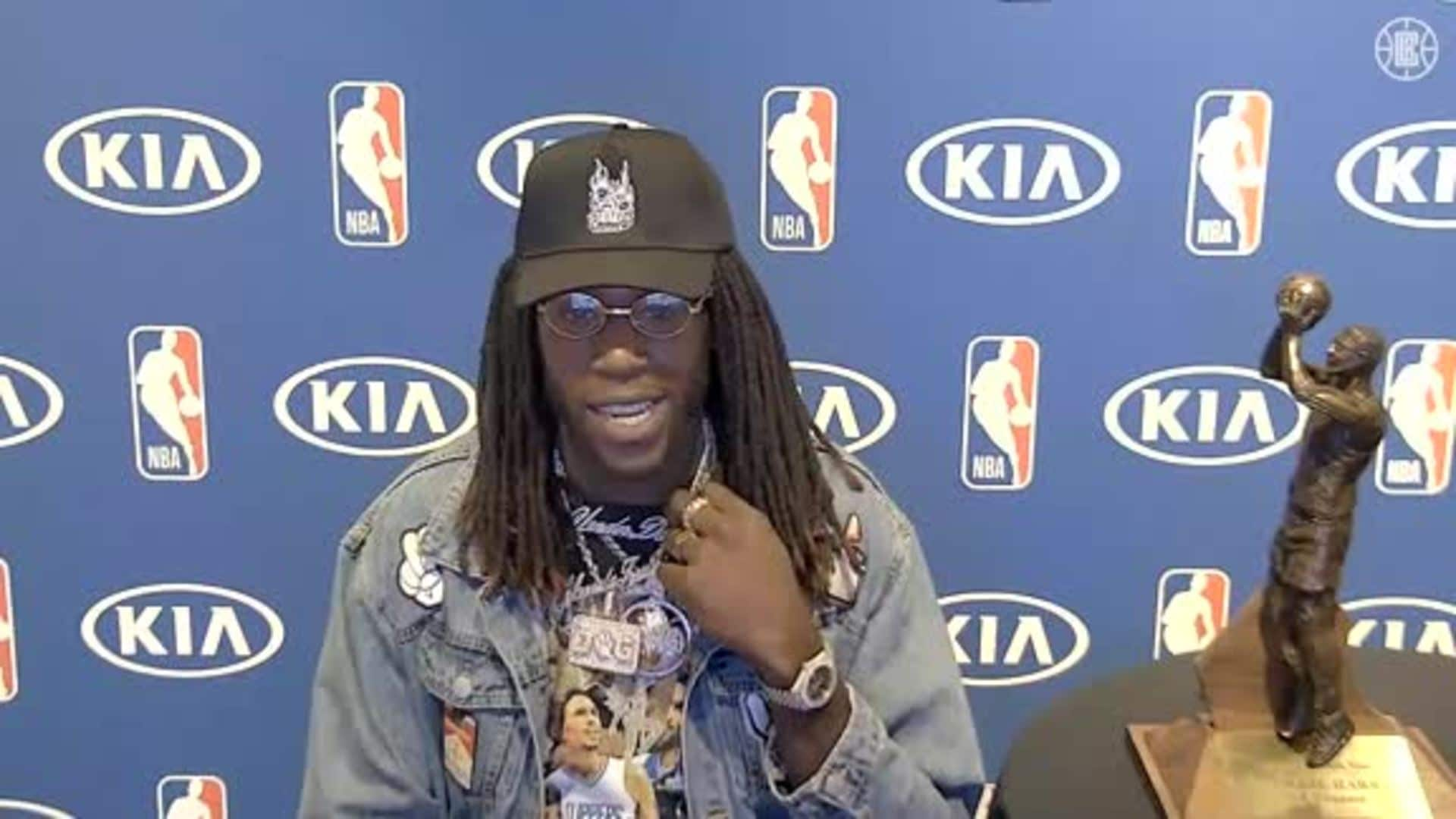 Press Conference: Montrezl Harrell Accepts the Sixth Man of the Year Award | September 4, 2020