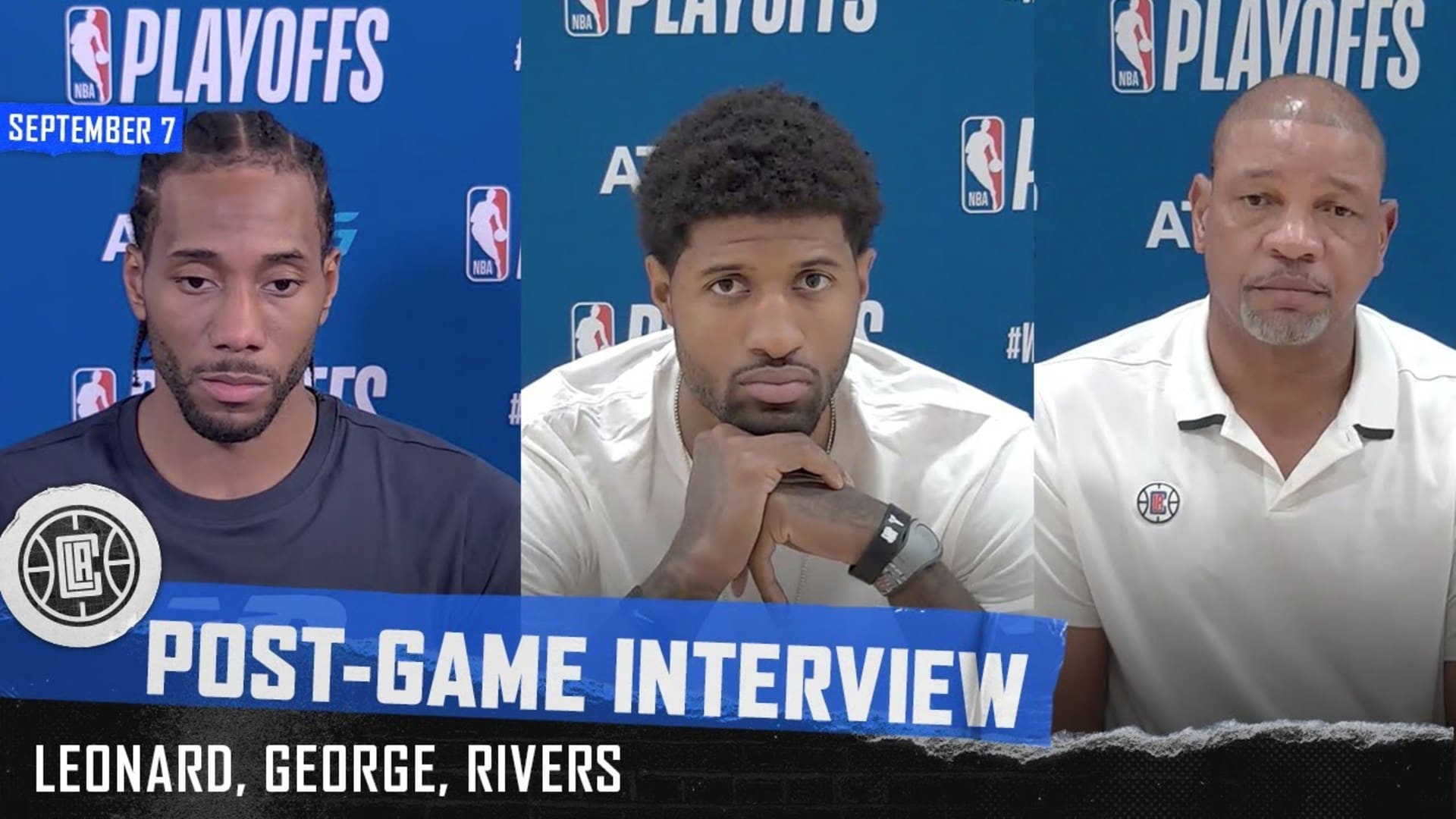 Leonard, George, and Rivers Post-Game Press Conference | Clippers vs. Nuggets Game 3