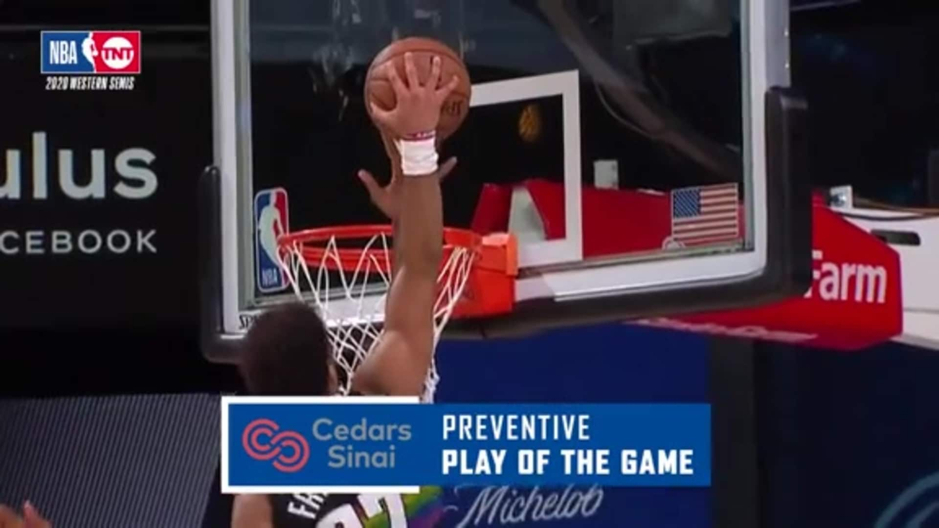 Cedars-Sinai Preventive Play of the Game | Clippers vs. Nuggets (09.07.20)