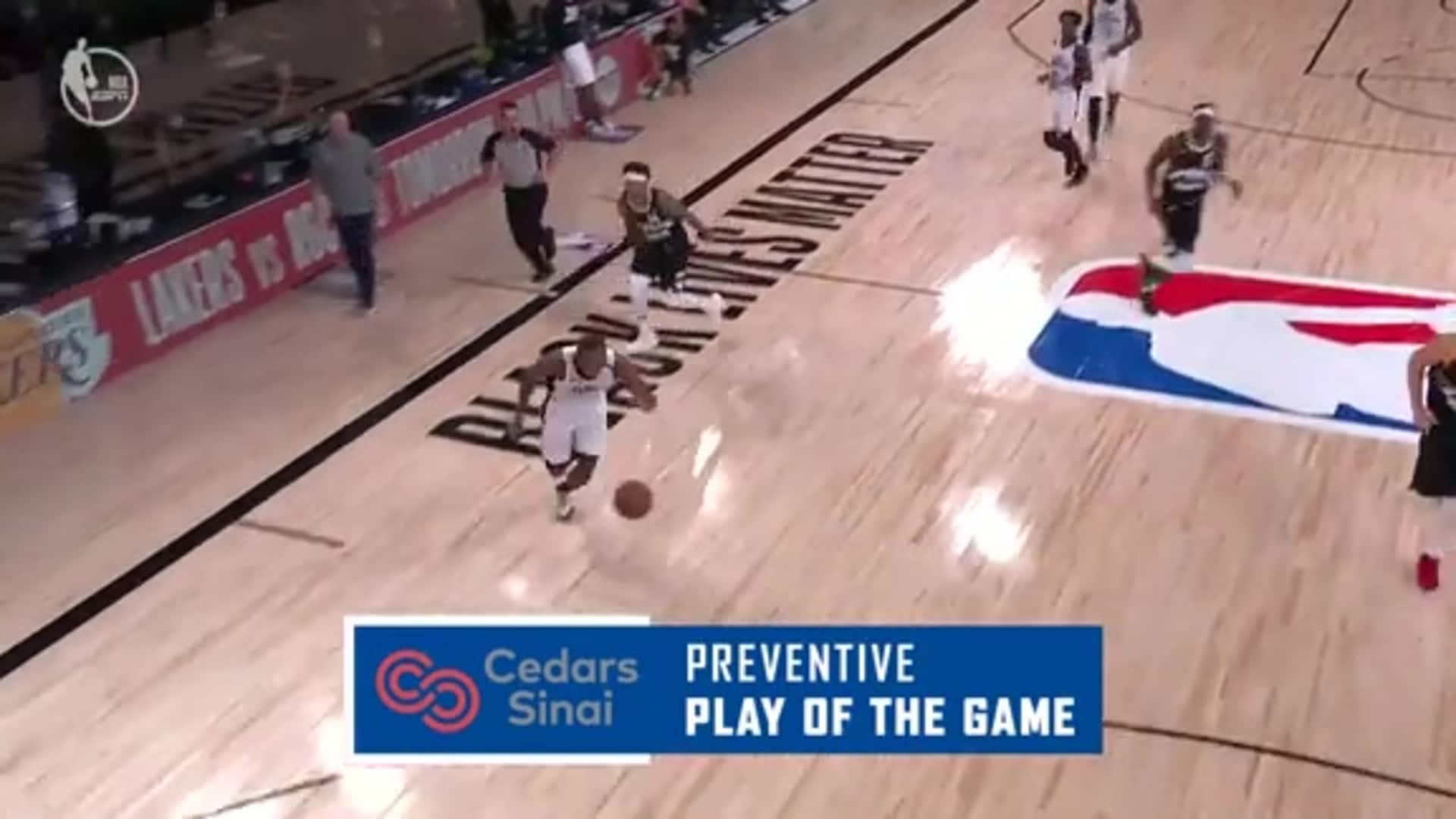 Cedars-Sinai Preventive Play of the Game | Clippers vs. Nuggets (09.09.20)