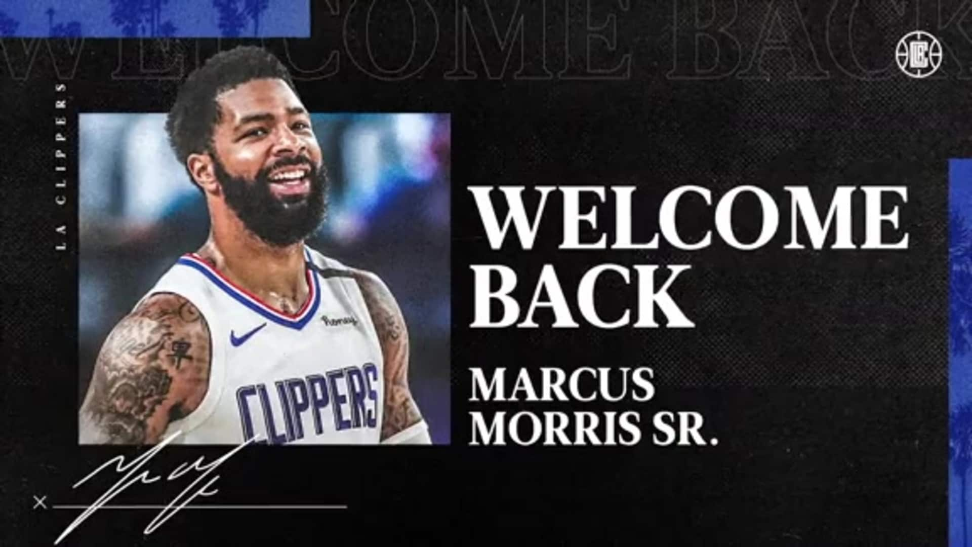 Welcome Back, Marcus Morris Sr.