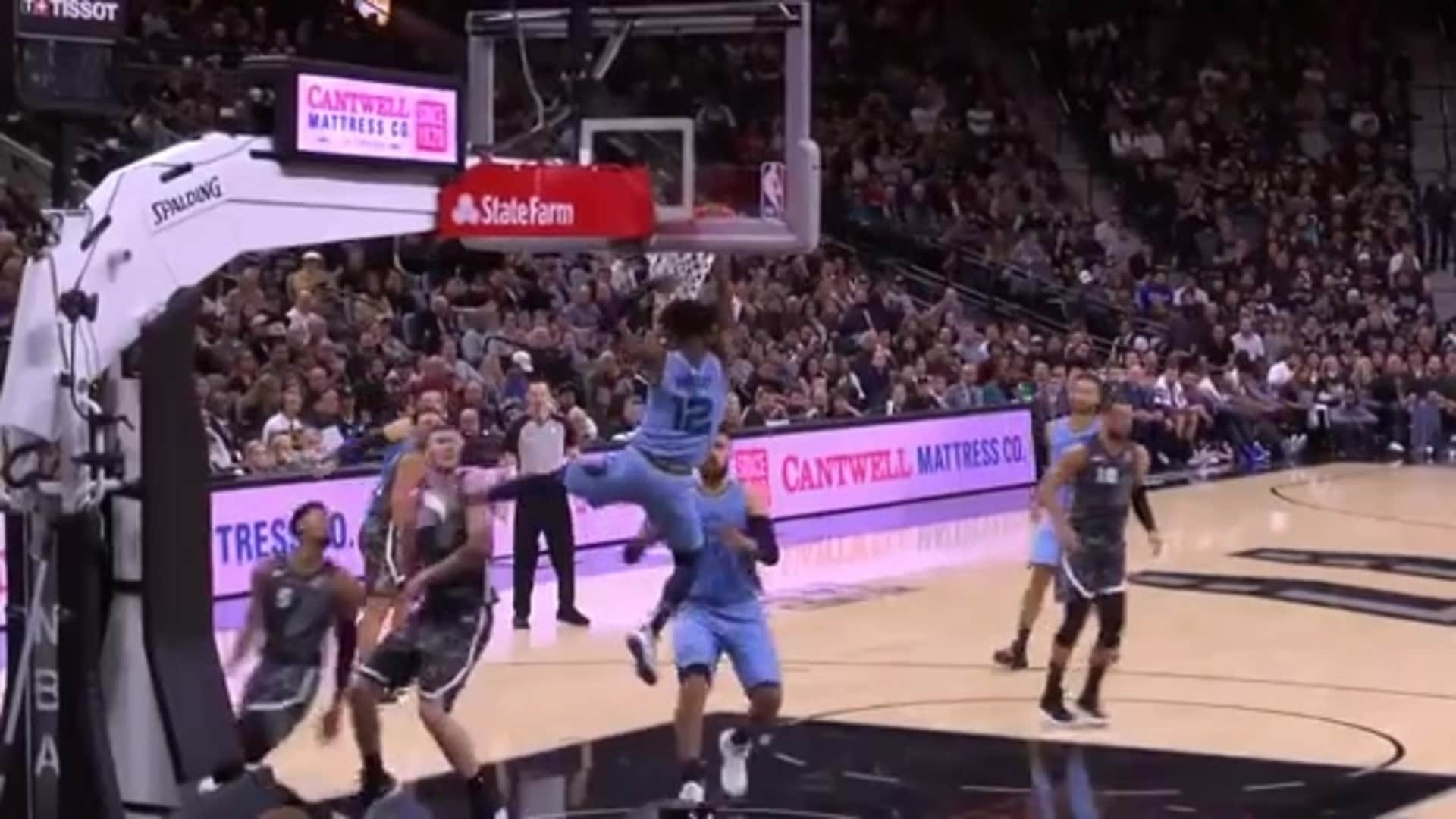 Grizzlies @ Spurs highlights 11.11.19