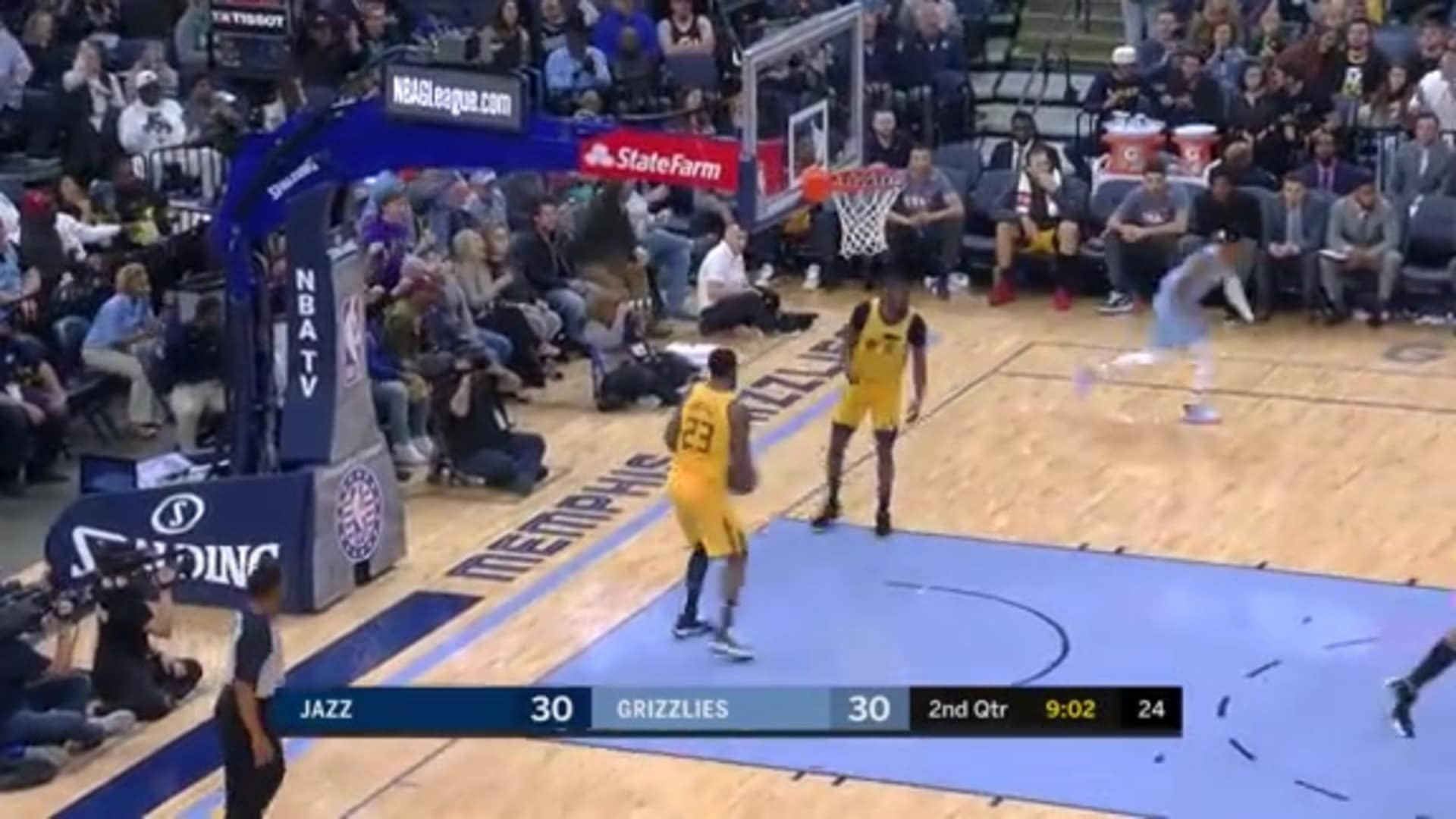 Morant fakes out the defense