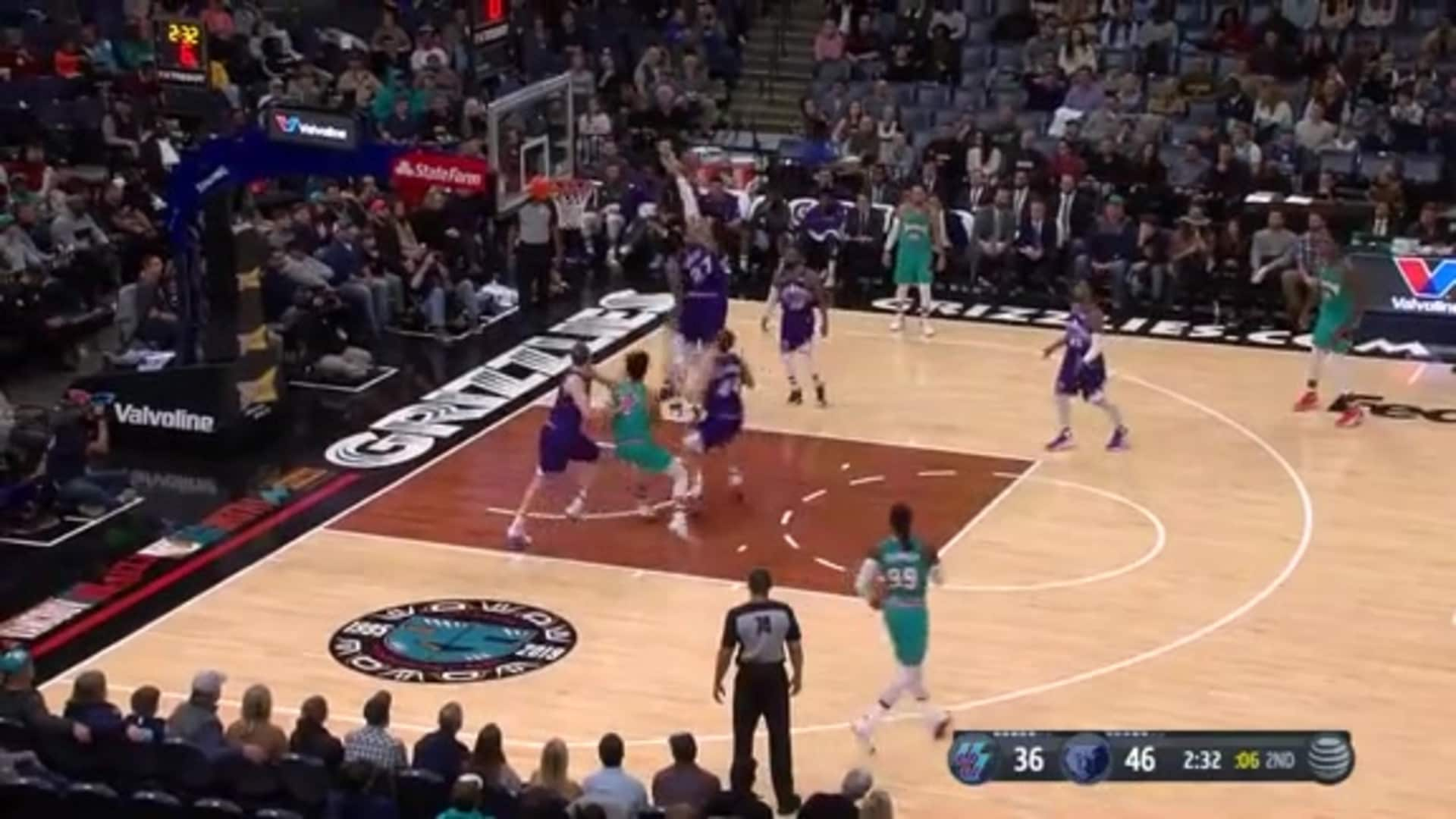 Dillon Brooks with the layup