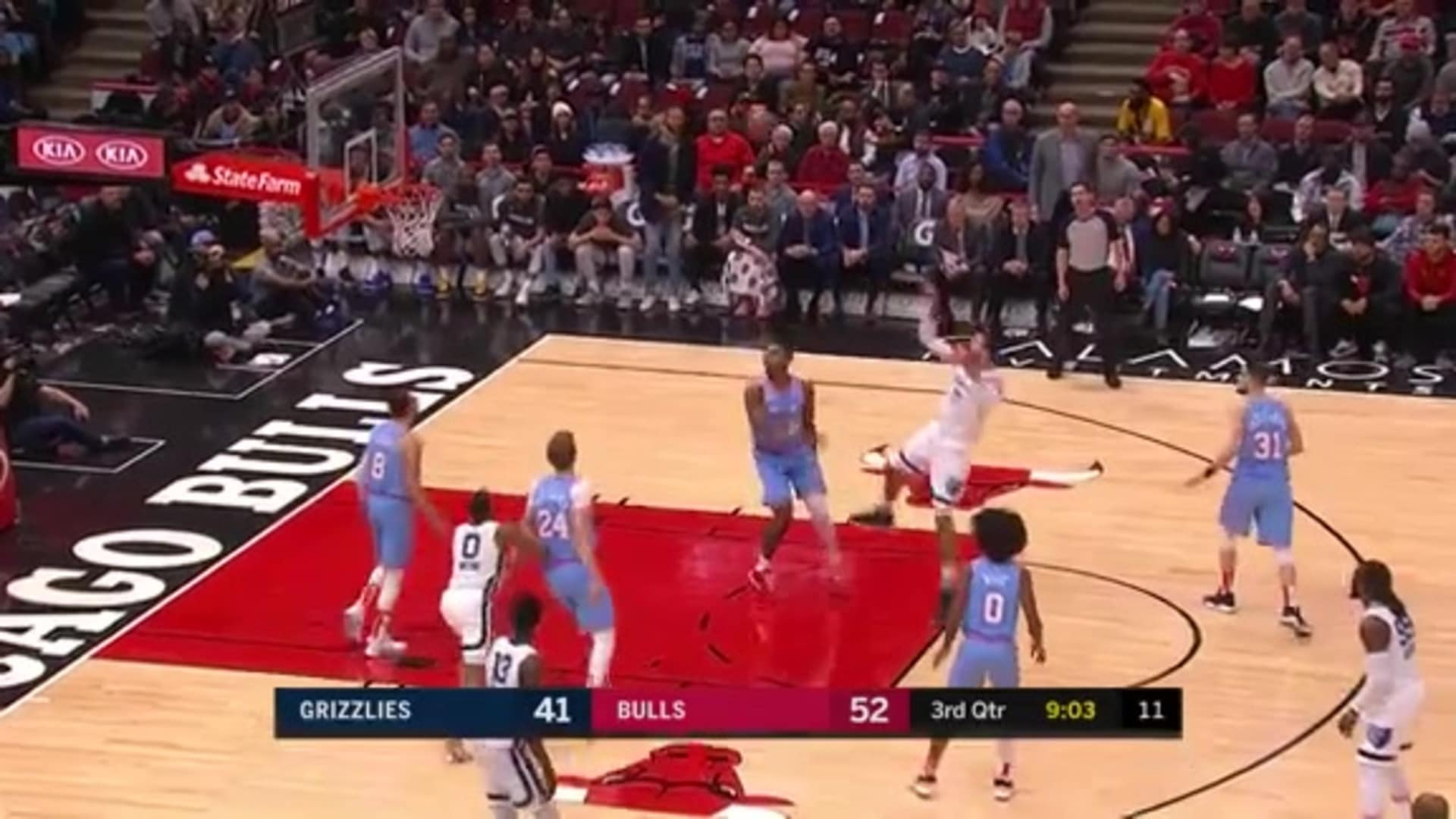 Jonas Valanciunas' nasty fadeaway in the paint