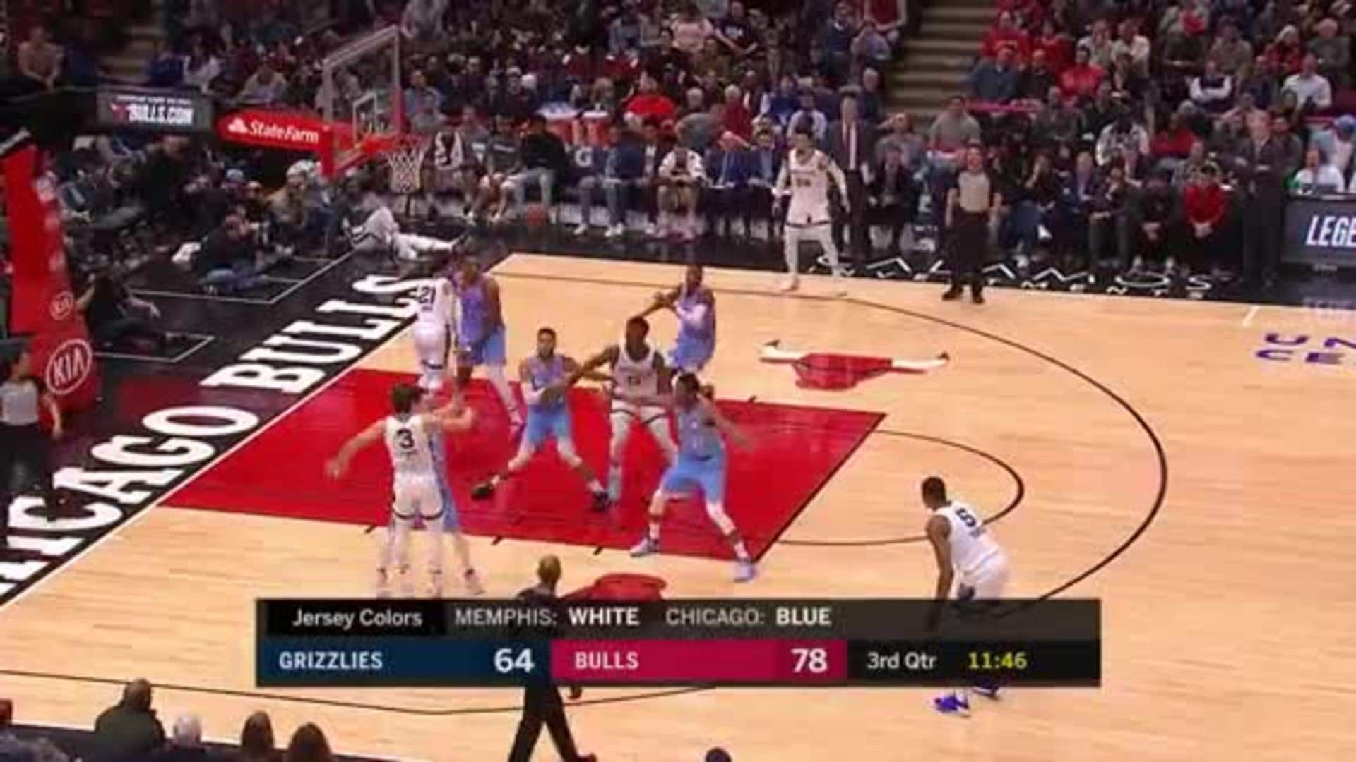 Bruno Caboclo takes flight for a big putback