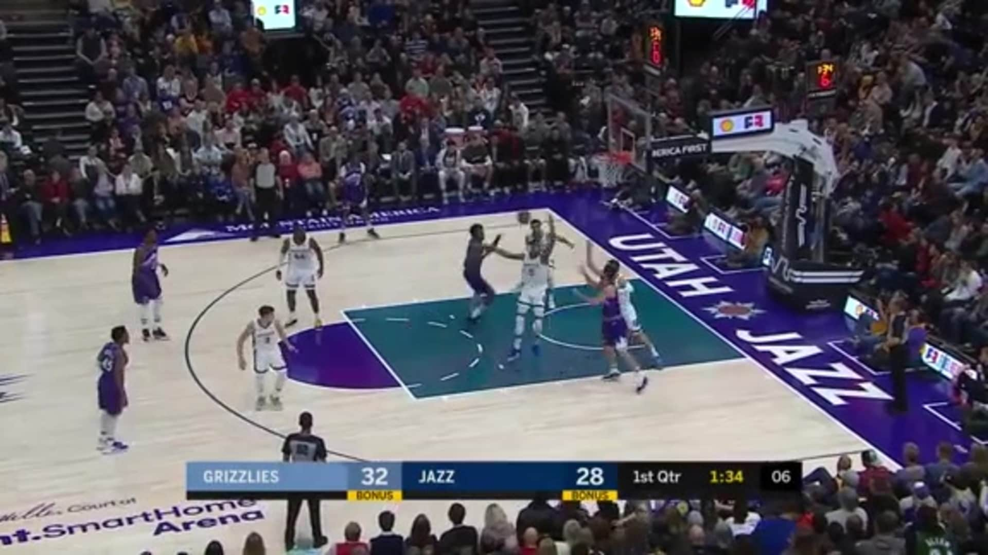 Grizzlies with 5 3-pointers in the 1st quarter vs. Jazz