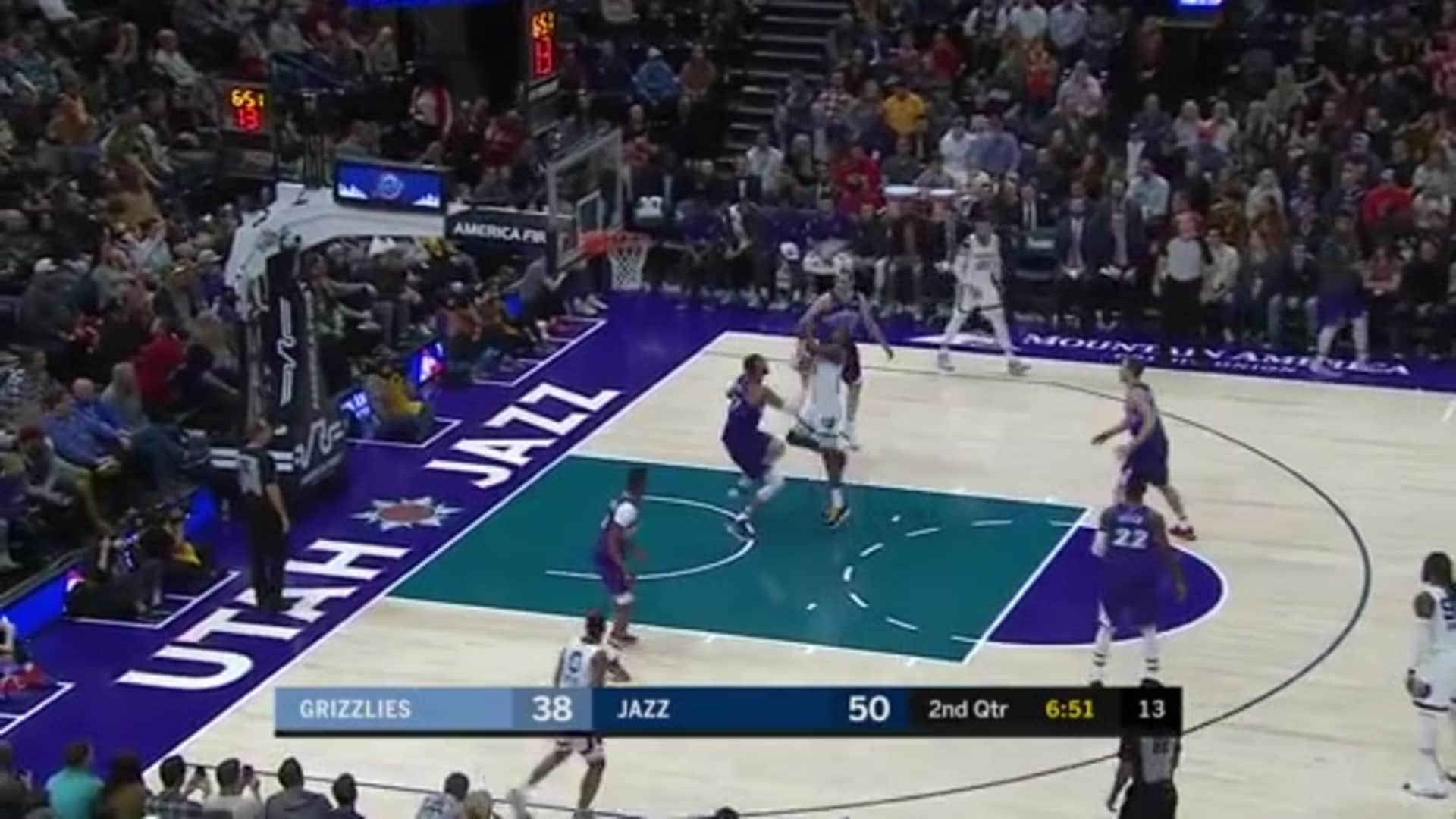 Grizzlies @ Jazz highlights 12.7.19