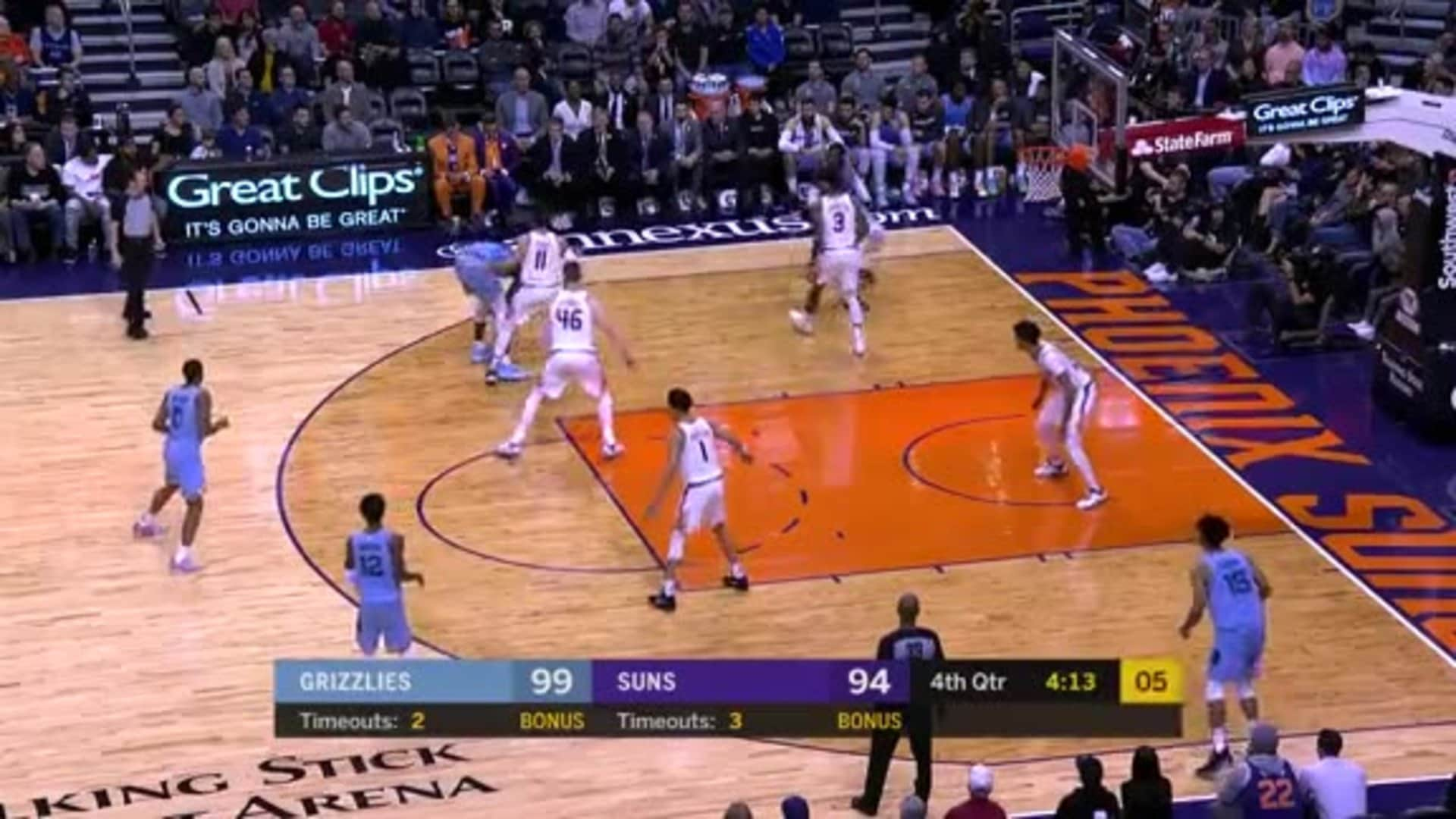 Jaren Jackson Jr. puts Ricky Rubio in a spin cycle