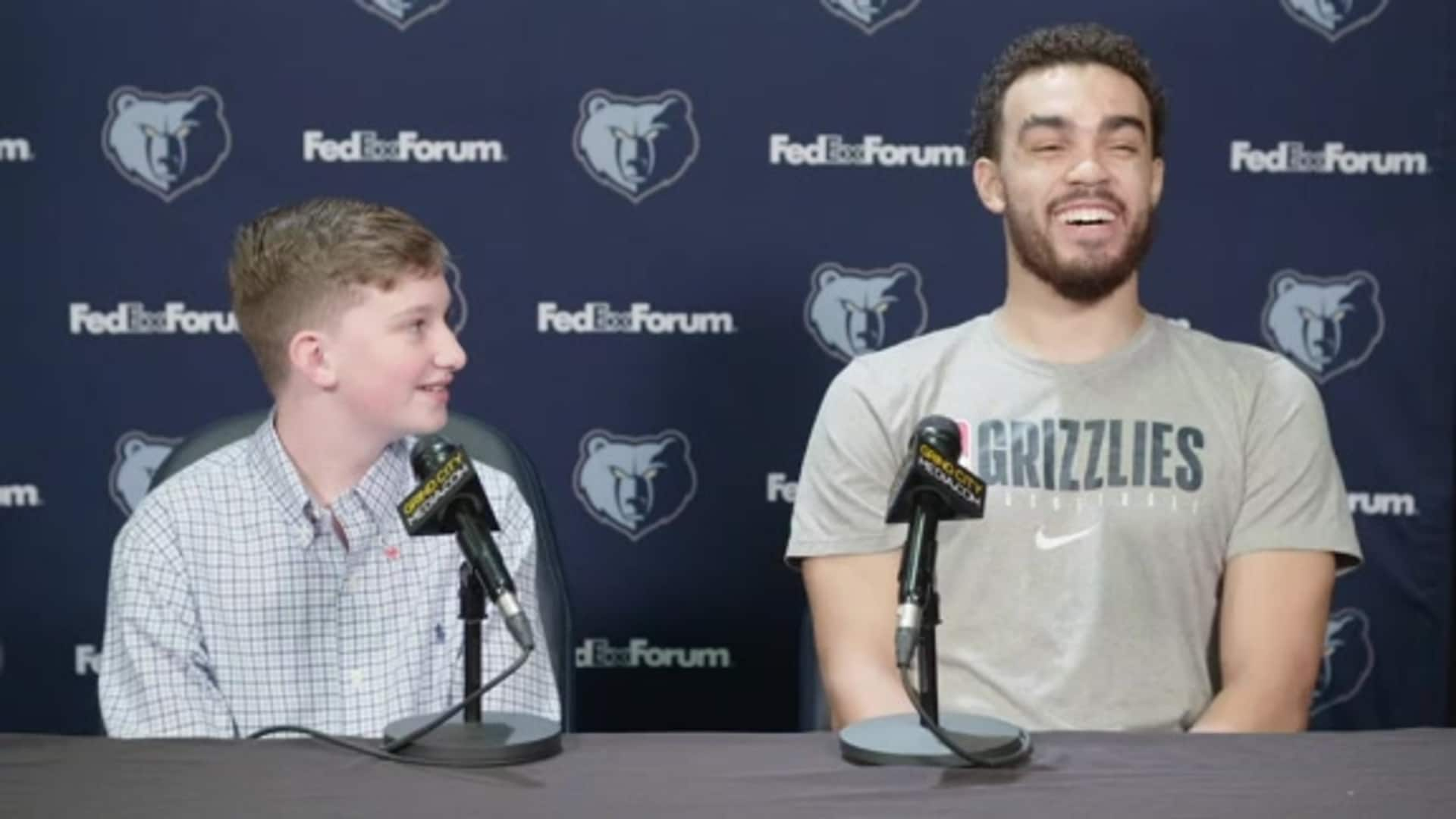 Le Bonheur Jr. Broadcaster interviews Tyus Jones